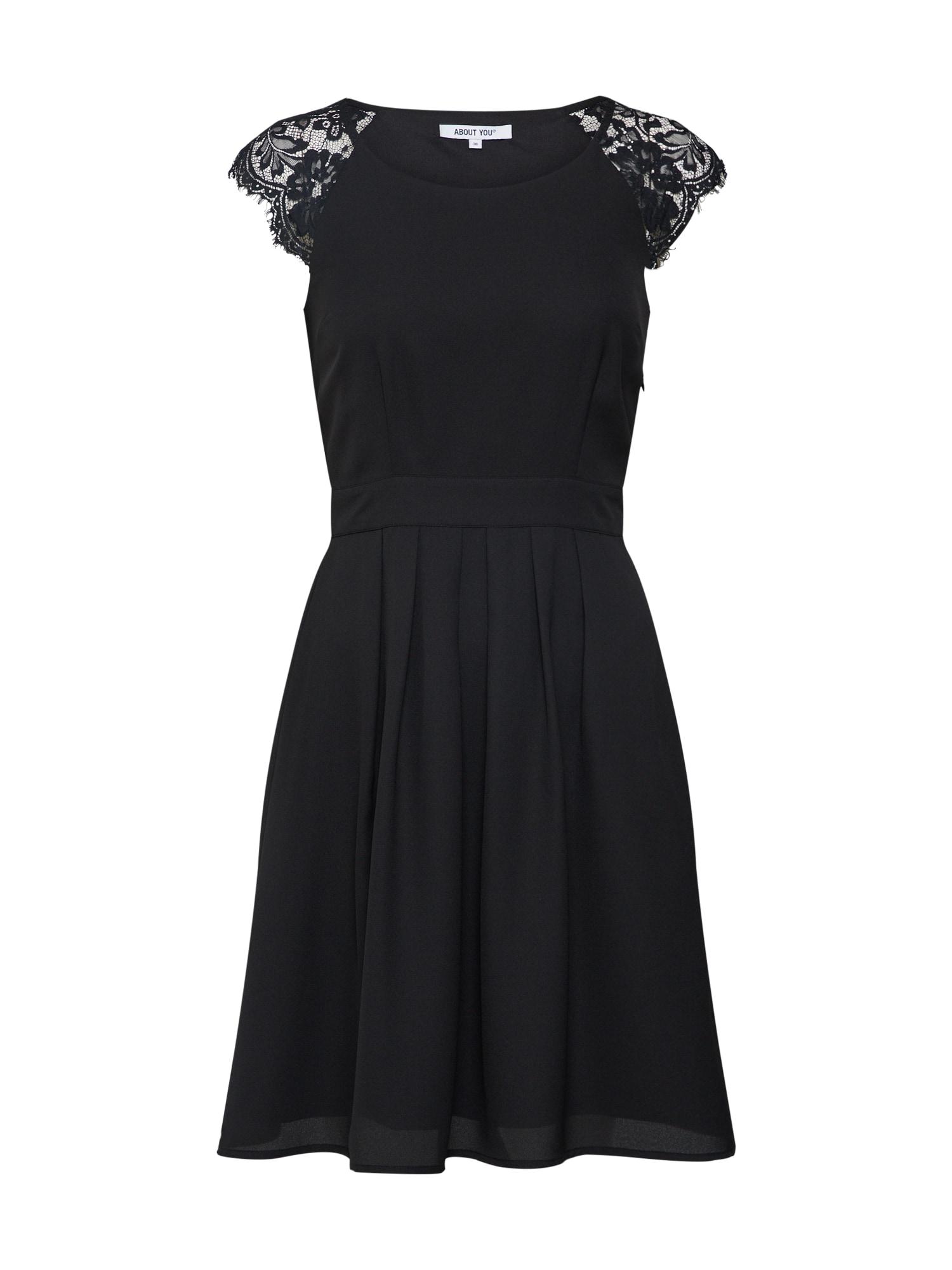 Koktejlové šaty Valerie černá ABOUT YOU