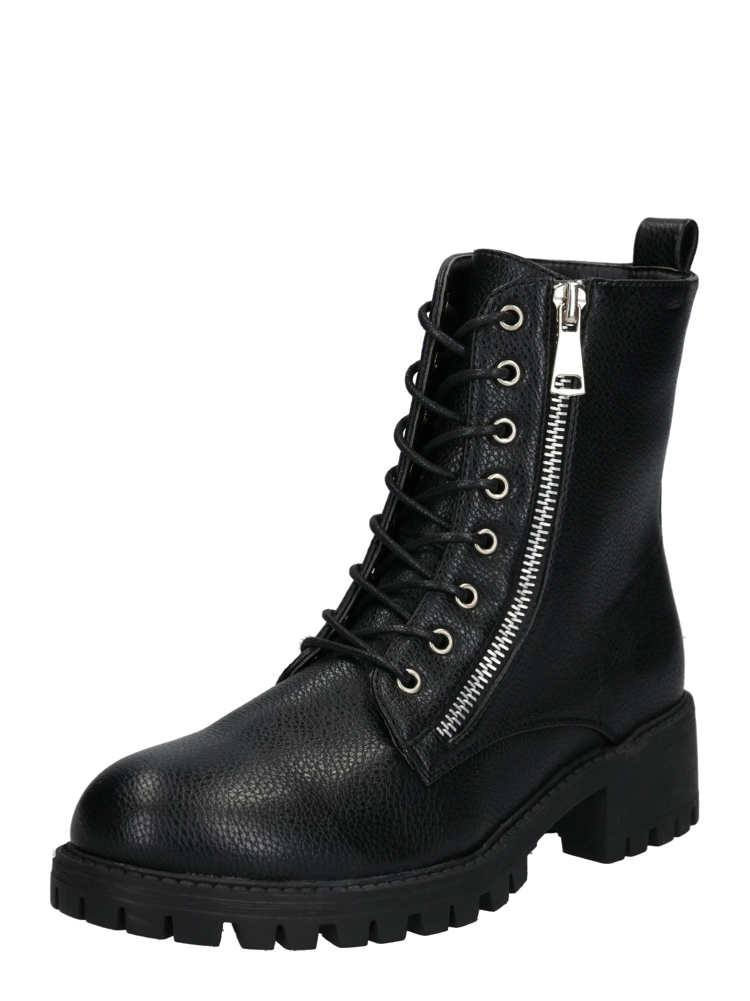 ABOUT YOU Suvarstomieji kulkšnis dengiantys batai 'Marit Shoe' juoda