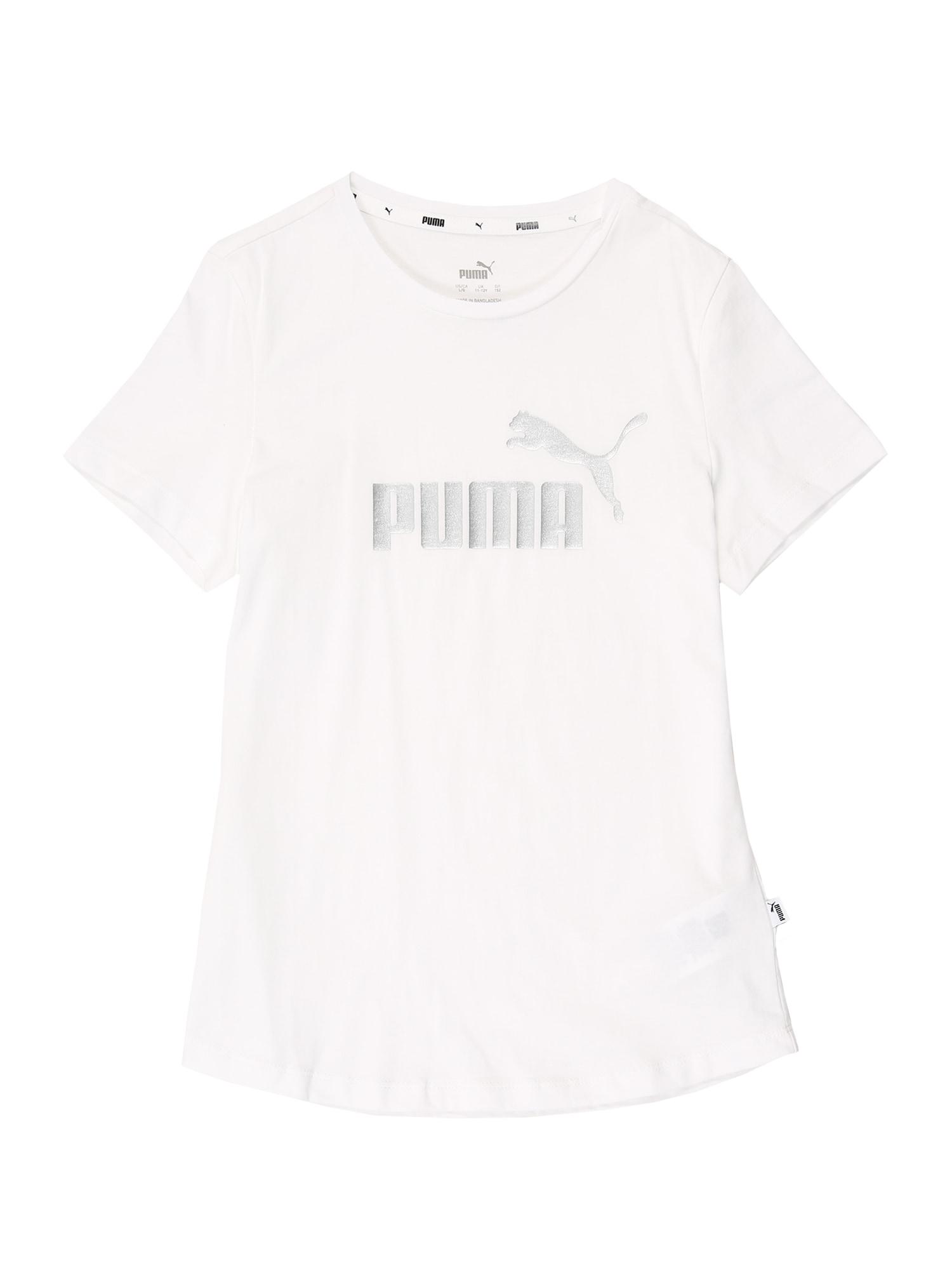 PUMA Funkčné tričko  strieborná / biela
