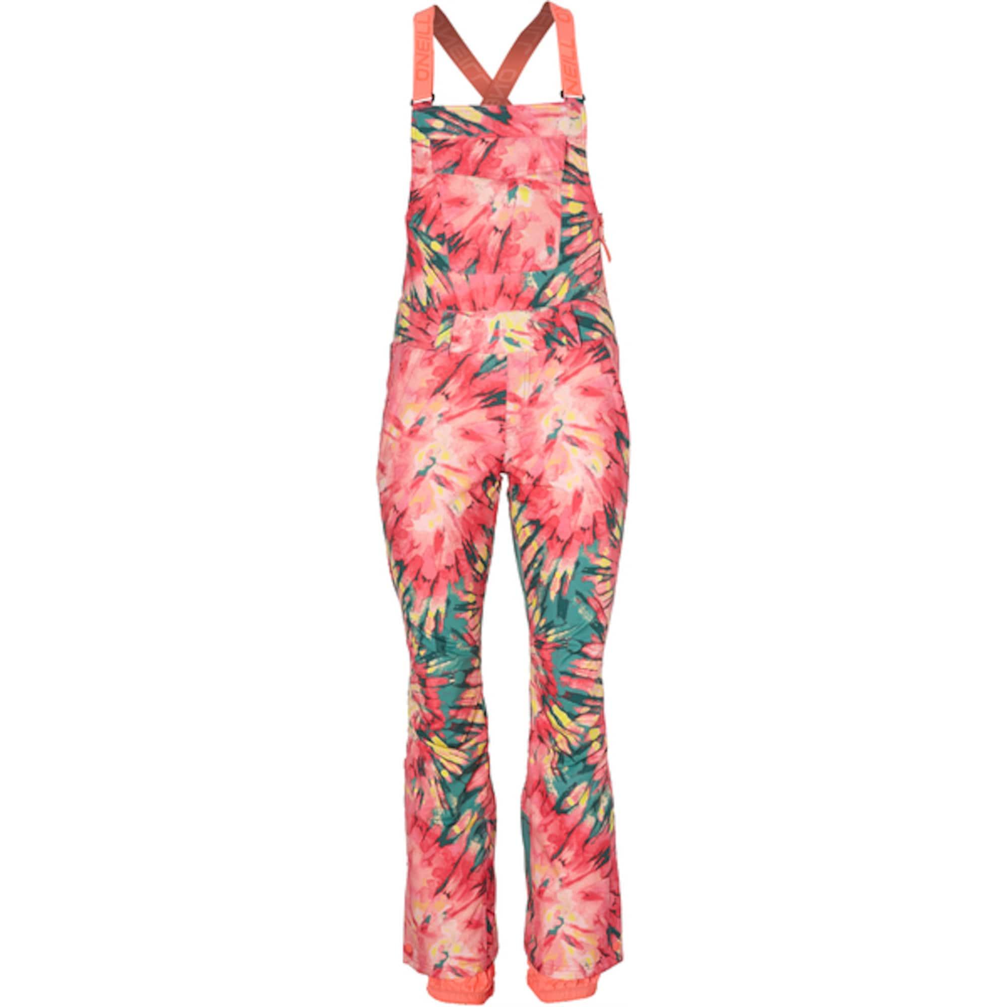 ONEILL Sportovní kalhoty PW SHRED BIB PANTS zelená pink O'NEILL