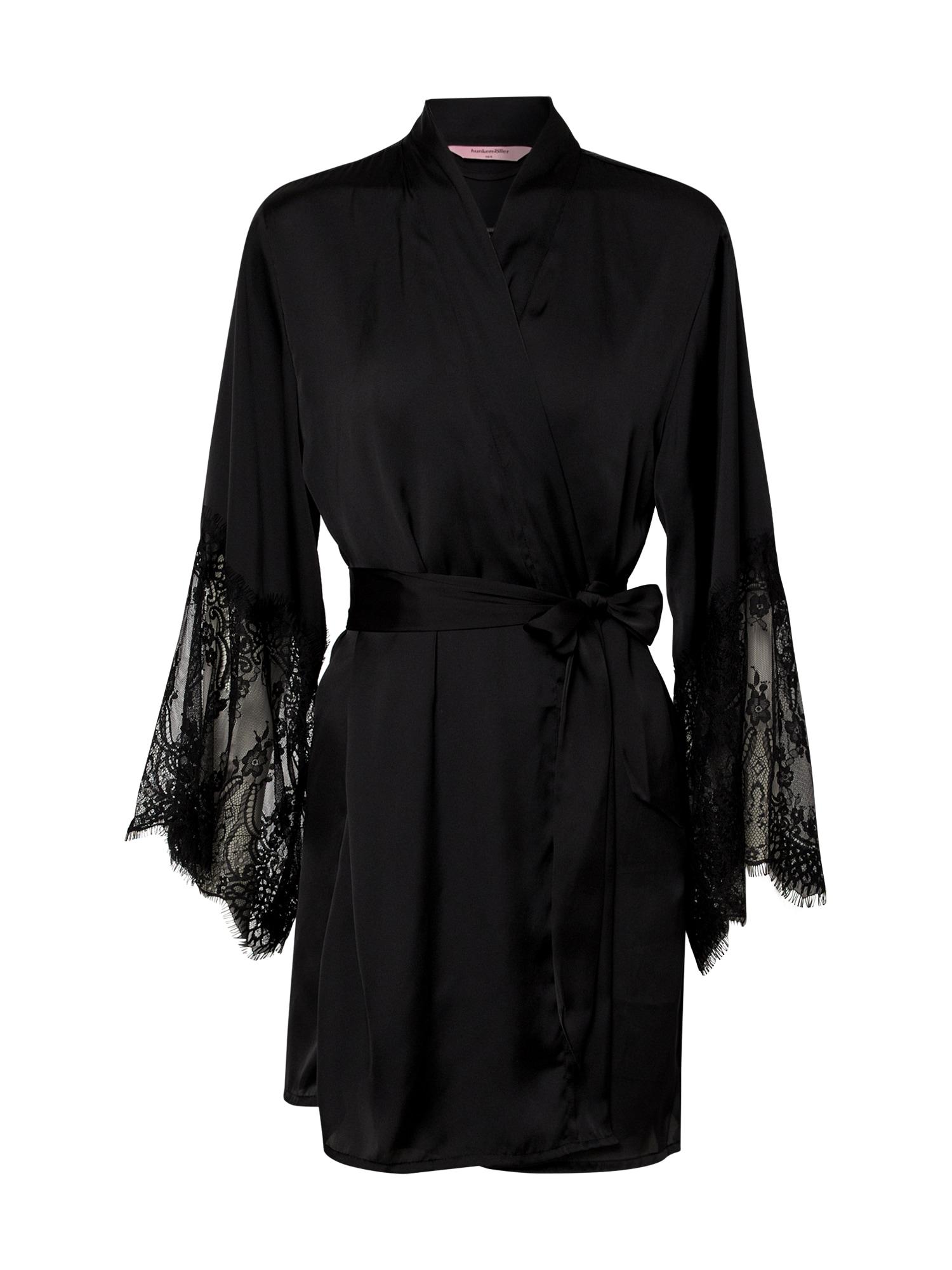 Hunkemöller Peniuaras 'Kimono Lace' juoda