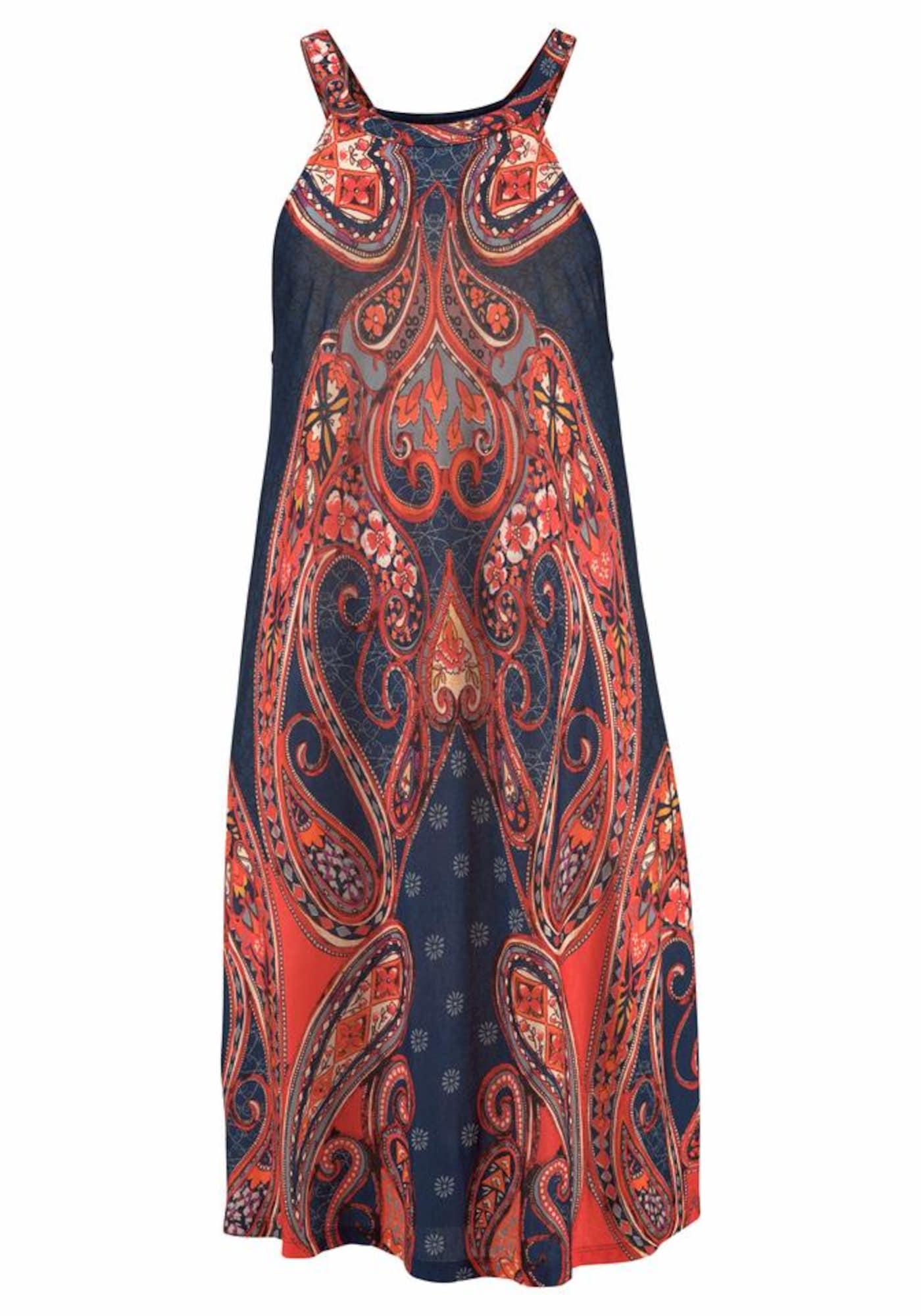 LASCANA Paplūdimio suknelė raudona / tamsiai mėlyna jūros spalva