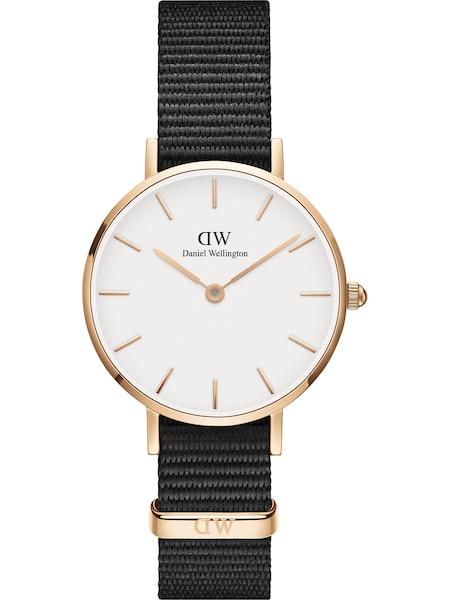 Uhren für Frauen - Daniel Wellington Uhr 'Classic Petite 28 Cornwall DW00100251' gold schwarz weiß  - Onlineshop ABOUT YOU