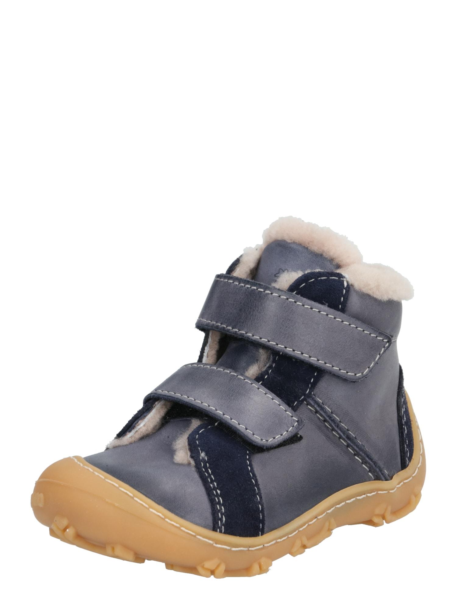 Pepino Pirmieji vaiko vaikščiojimo bateliai 'LIAS' mėlyna / vilnos balta