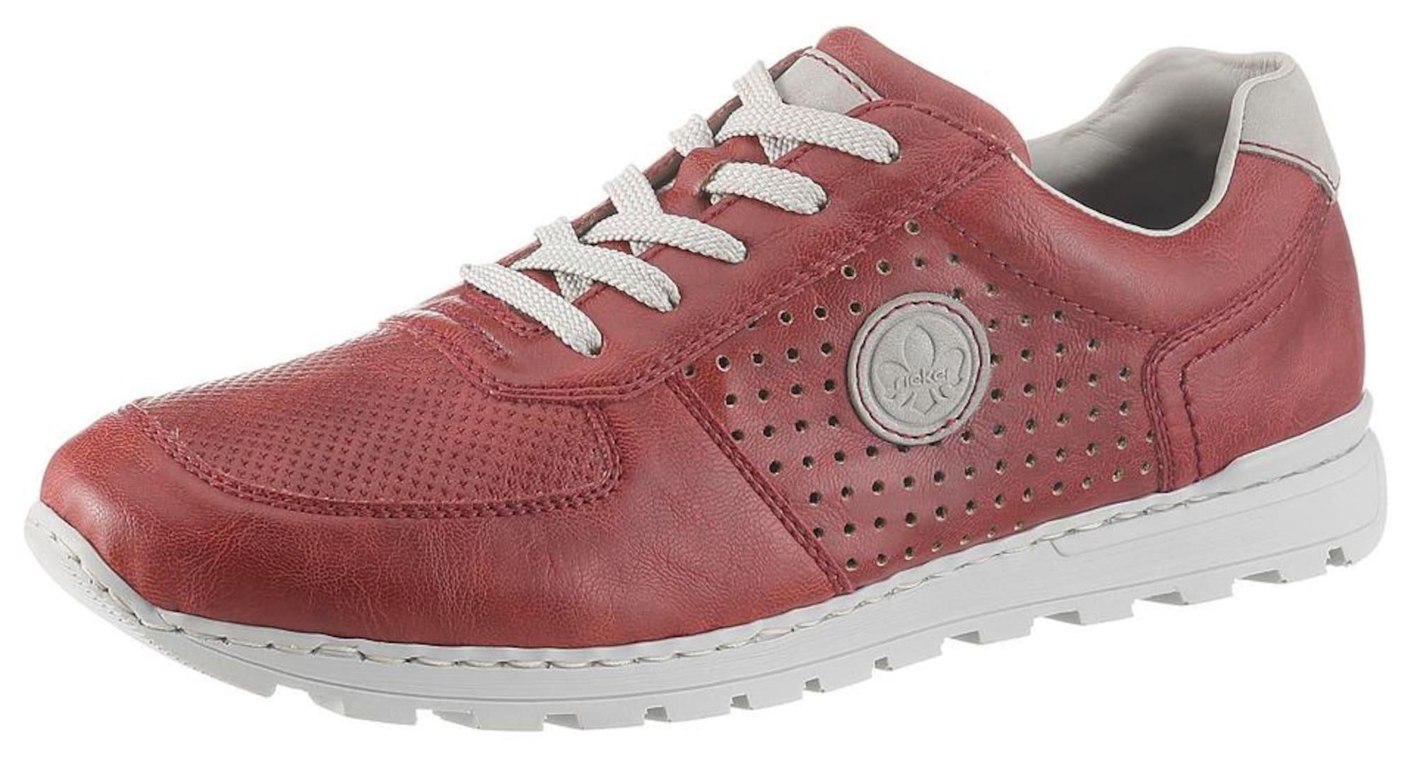 RIEKER Sportinio stiliaus batai su raišteliais rusva