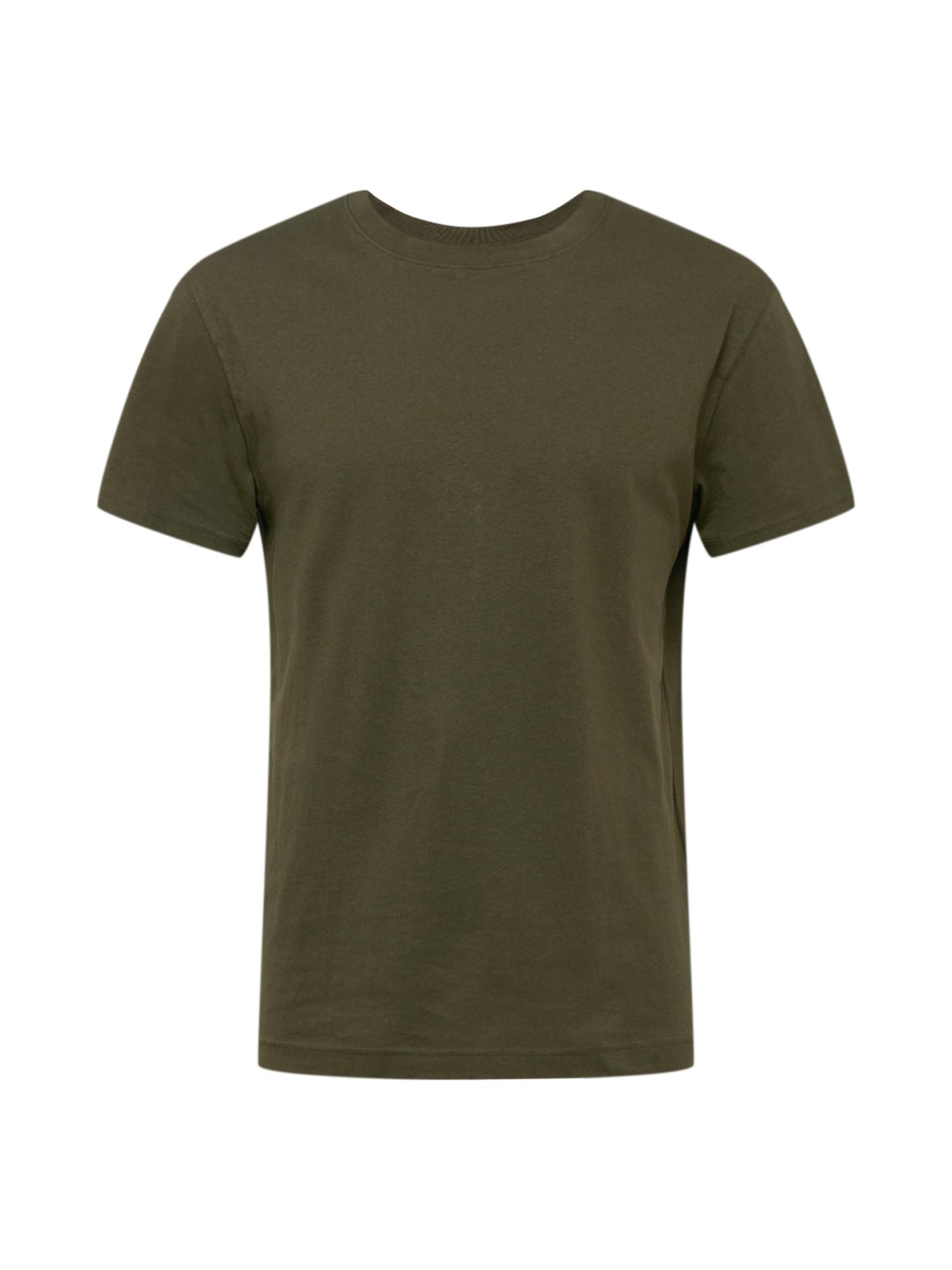 JACK & JONES Marškinėliai 'ELIAM' rusvai žalia