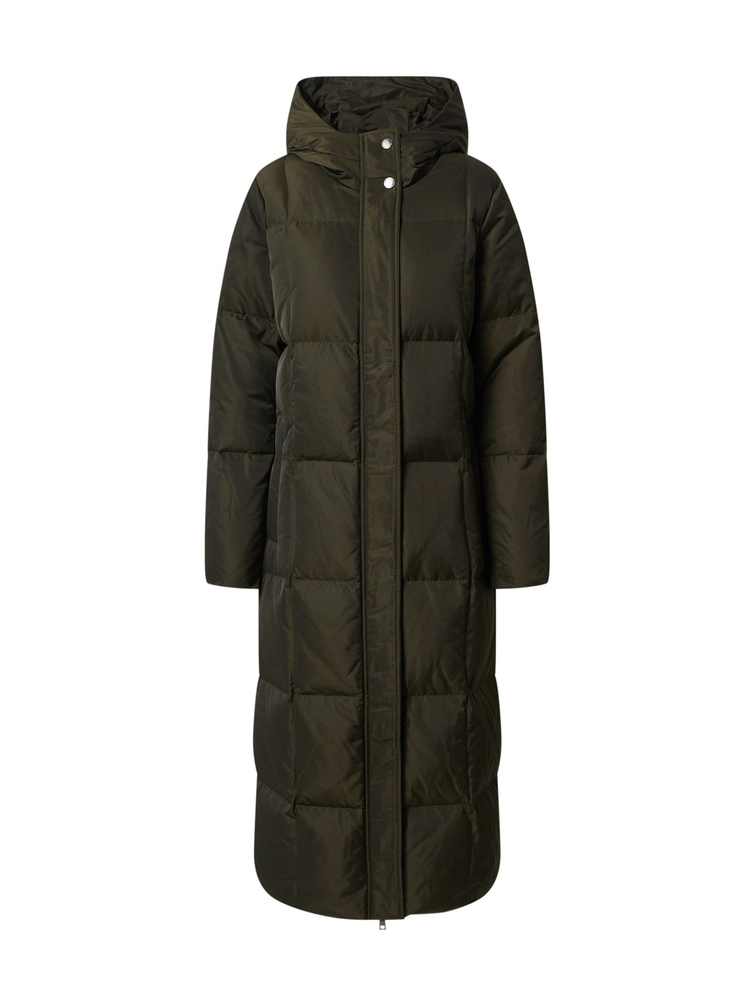 Spoom Žieminis paltas rusvai žalia