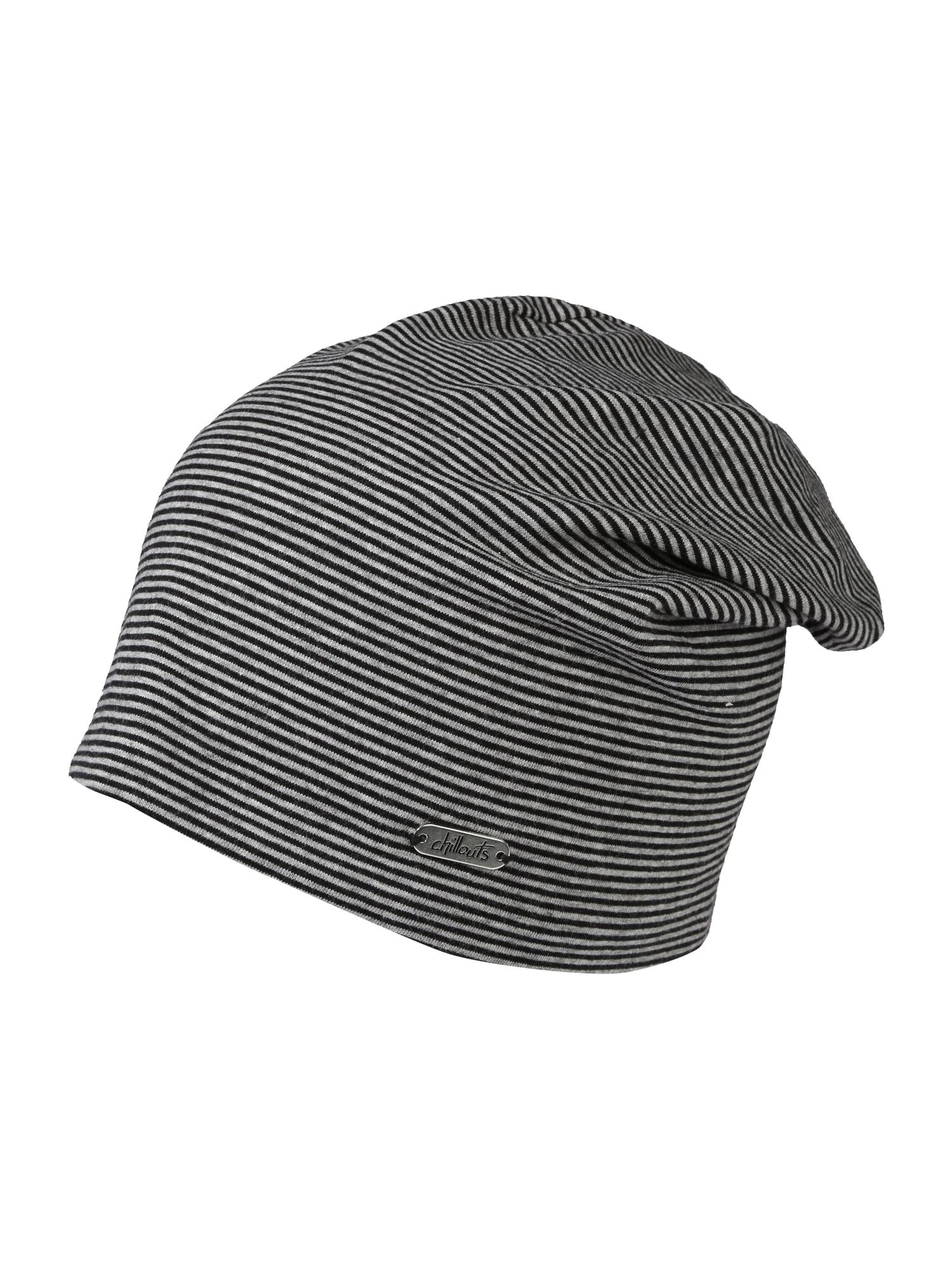 chillouts Megzta kepurė 'Pittsburgh' pilka / juoda