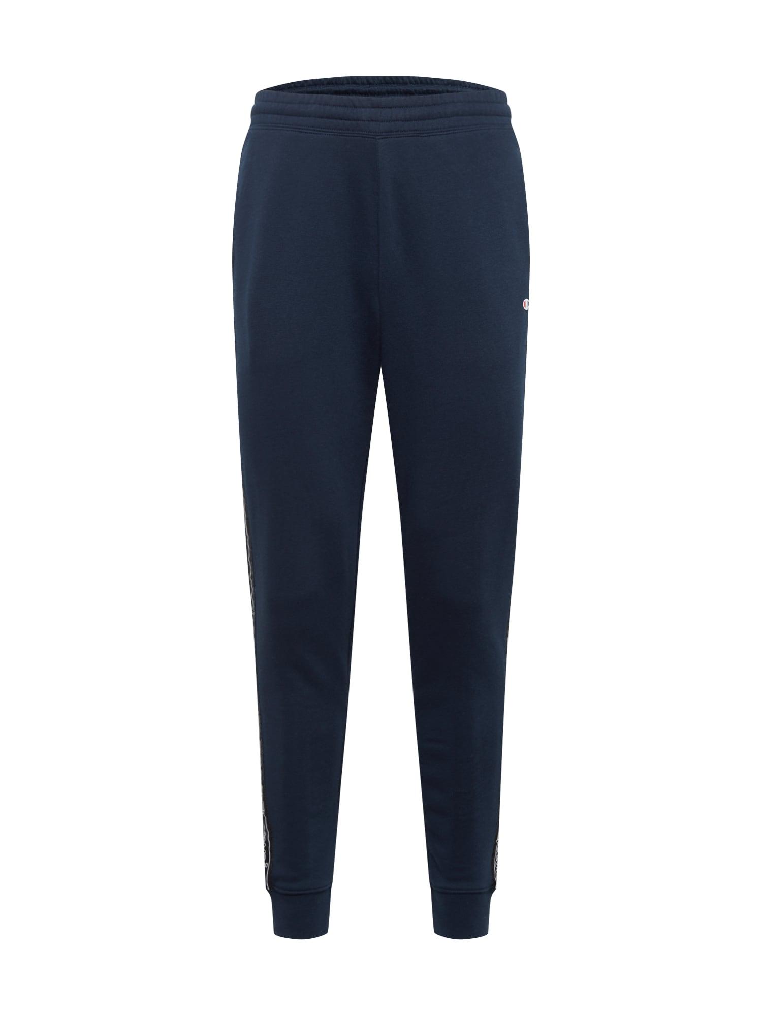 Champion Authentic Athletic Apparel Kelnės tamsiai mėlyna / juoda / balta