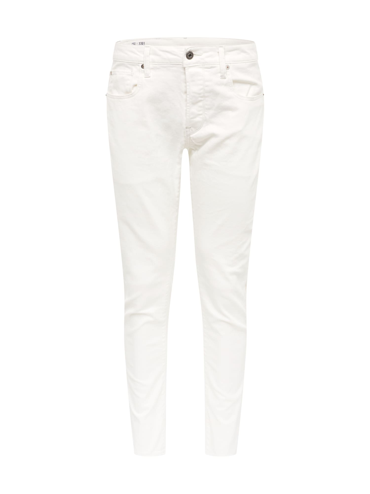 Džíny 3301 Slim bílá džínovina G-STAR RAW