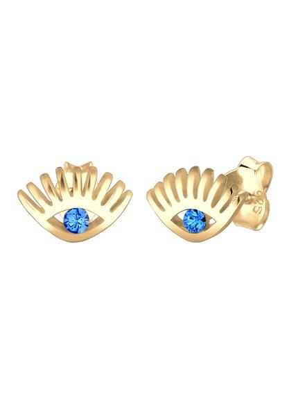 Ohrringe für Frauen - ELLI Ohrringe 'Evil Eye' himmelblau gold  - Onlineshop ABOUT YOU