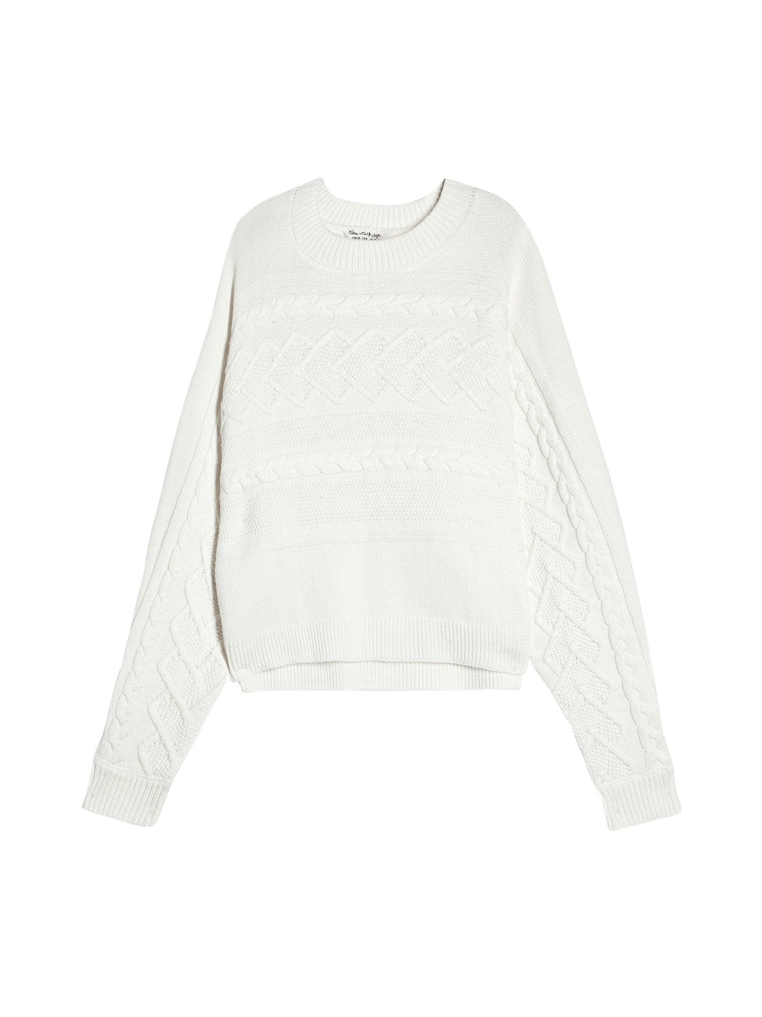 Miss Selfridge Pulover 'DT:CABLE BATWING'  offwhite
