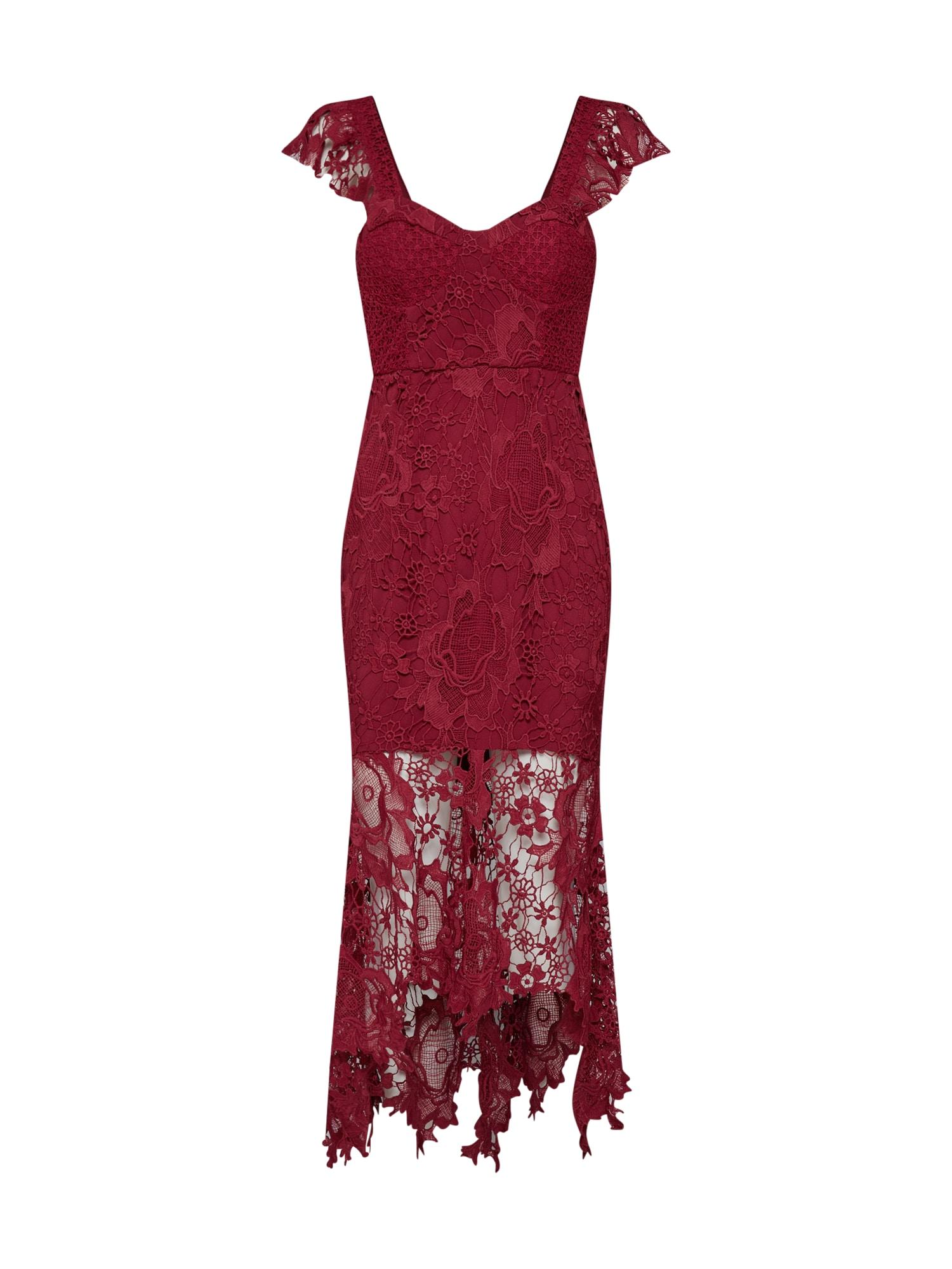 Společenské šaty Clementine bordó Love Triangle