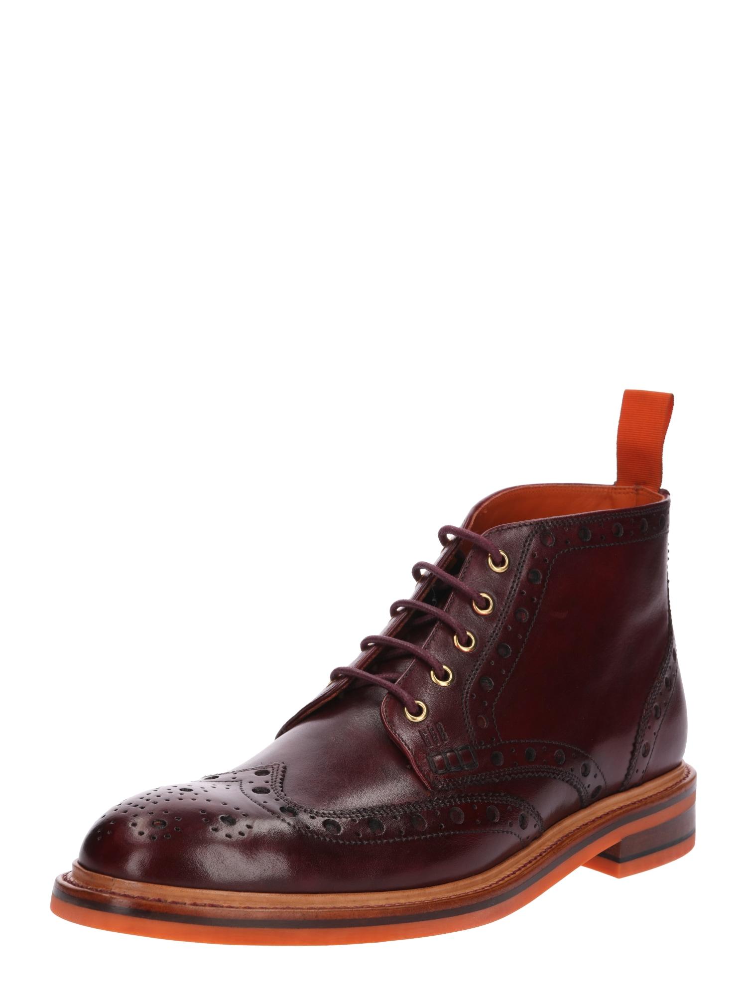 Šněrovací boty Harry kaštanově hnědá Gordon & Bros