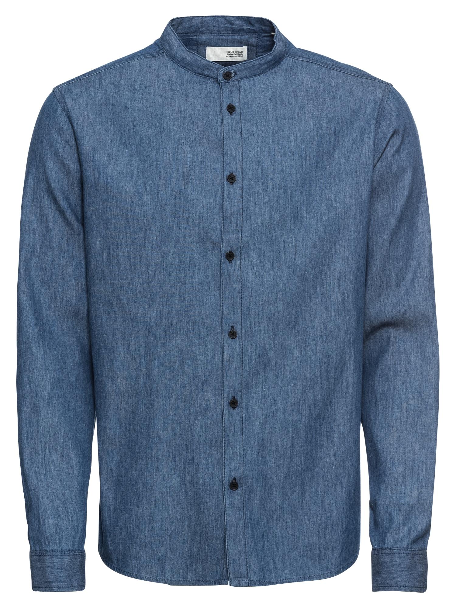 Košile Sand LS Chambrey modrá džínovina !Solid