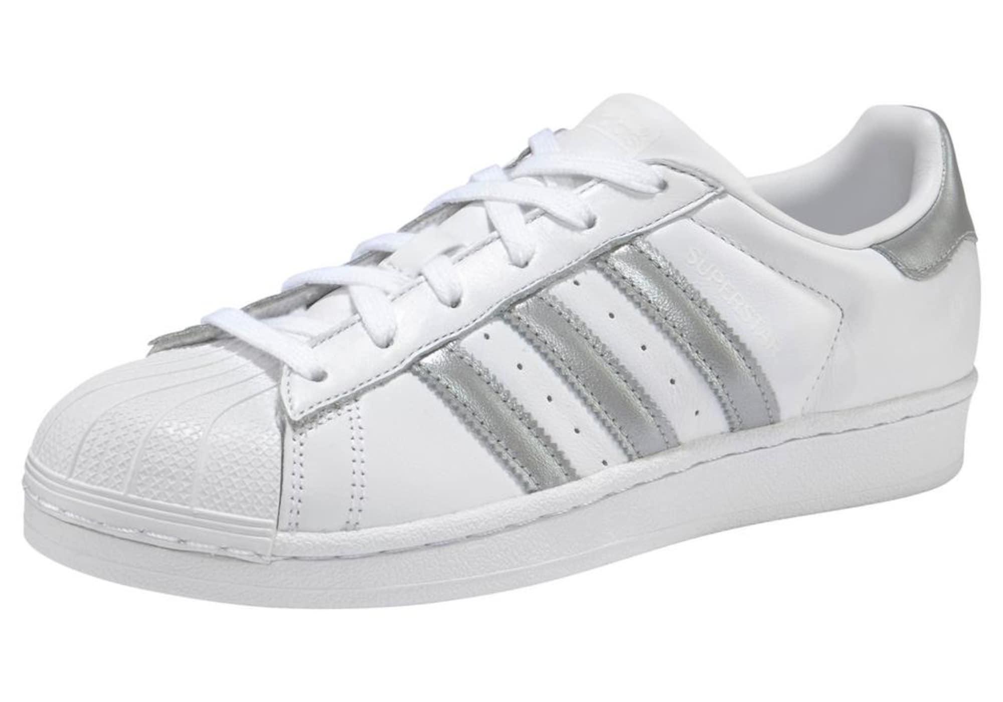 1c2efb835a7 Adidas Originals Dames Sneakers Laag Superstar Zilvergrijs Wit adidas  originals kopen in de aanbieding