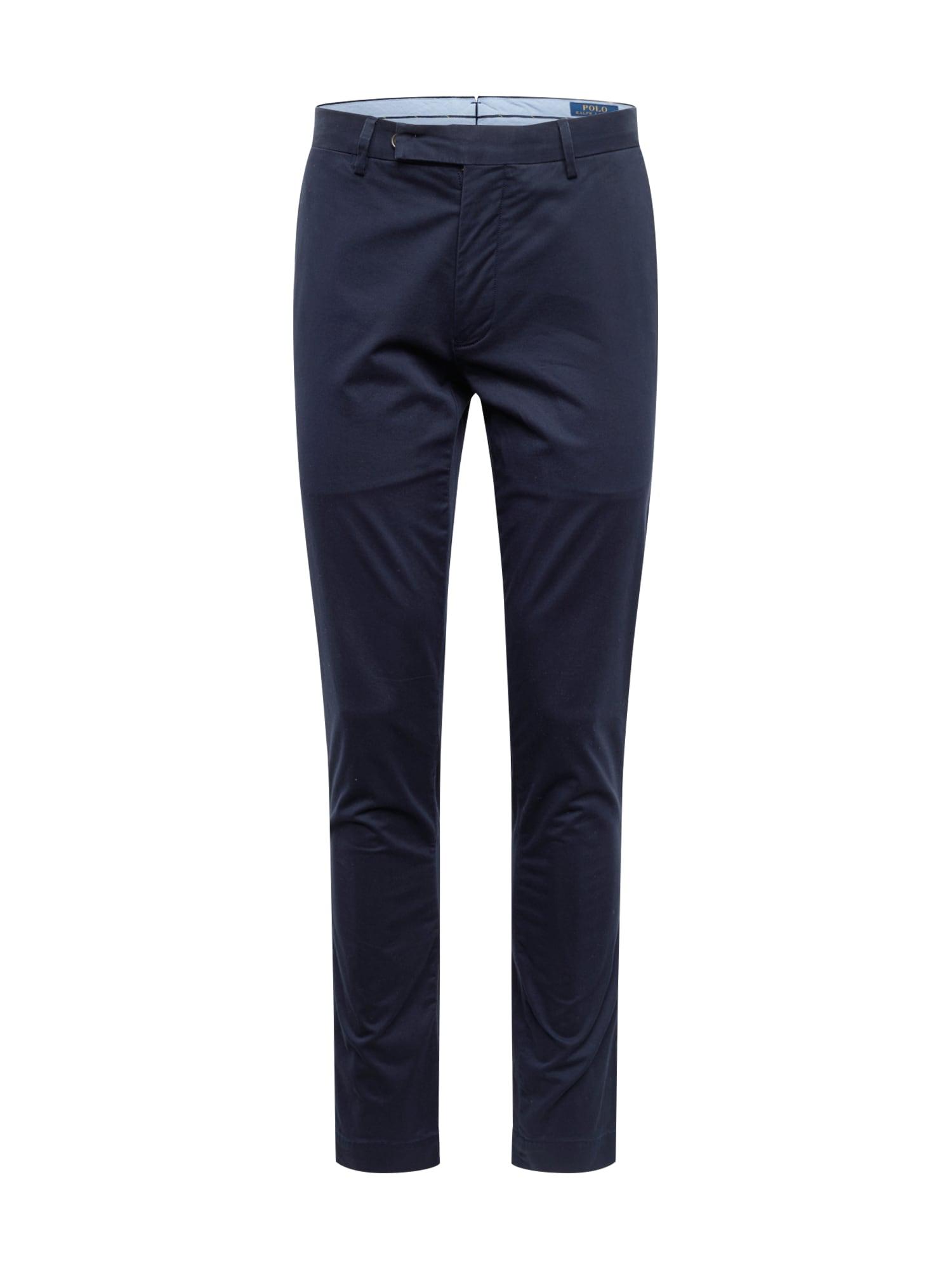 POLO RALPH LAUREN Chino nohavice 'TSLFHDNP-FLAT-PANT'  námornícka modrá