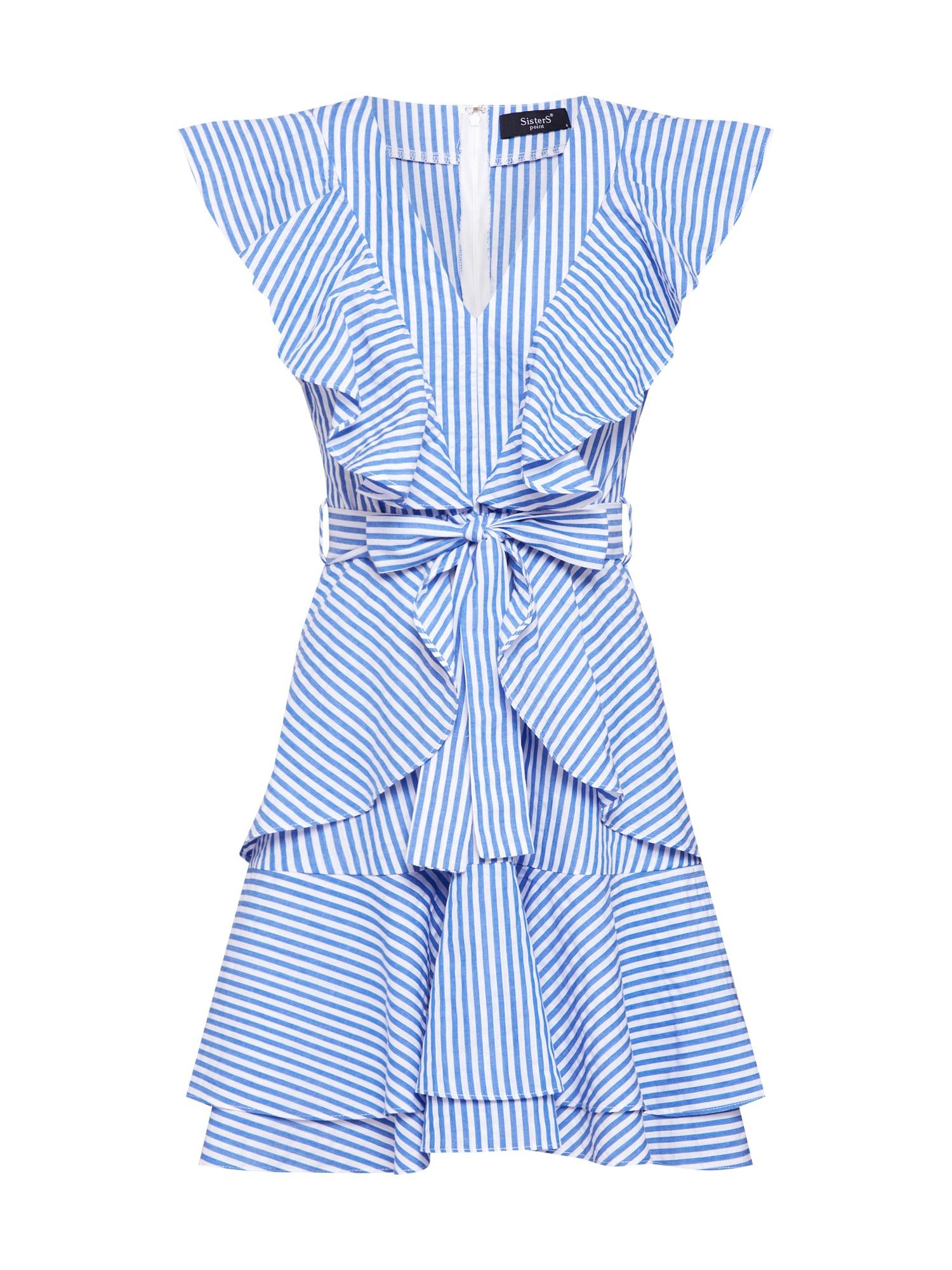 Letní šaty EVAN-DR modrá bílá SISTERS POINT