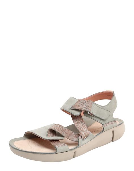 Sandalen für Frauen - CLARKS Sandalen 'Tri clover' hellgrau pfirsich  - Onlineshop ABOUT YOU