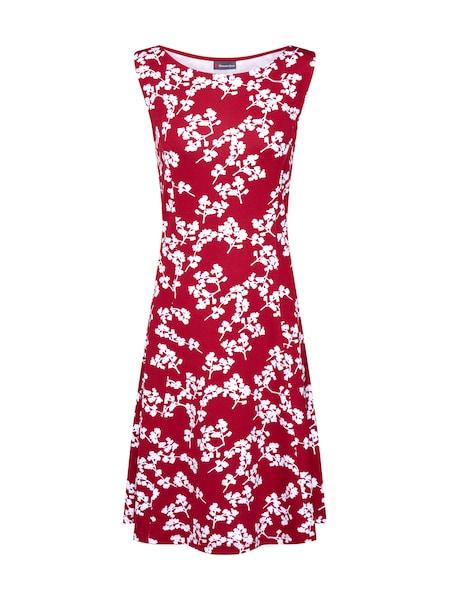 Kleider für Frauen - STREET ONE Kleid weinrot weiß  - Onlineshop ABOUT YOU