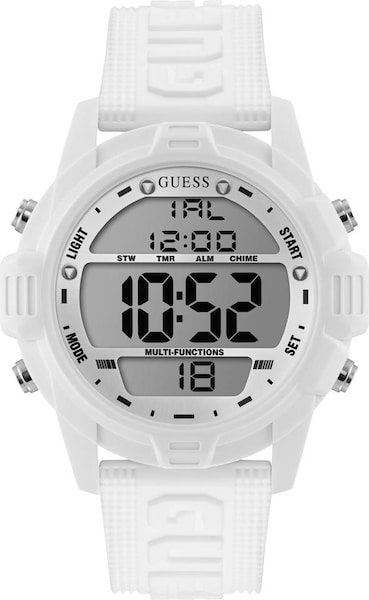 Uhren - Digitaluhr 'Charge W1299G2' › Guess › weiß  - Onlineshop ABOUT YOU