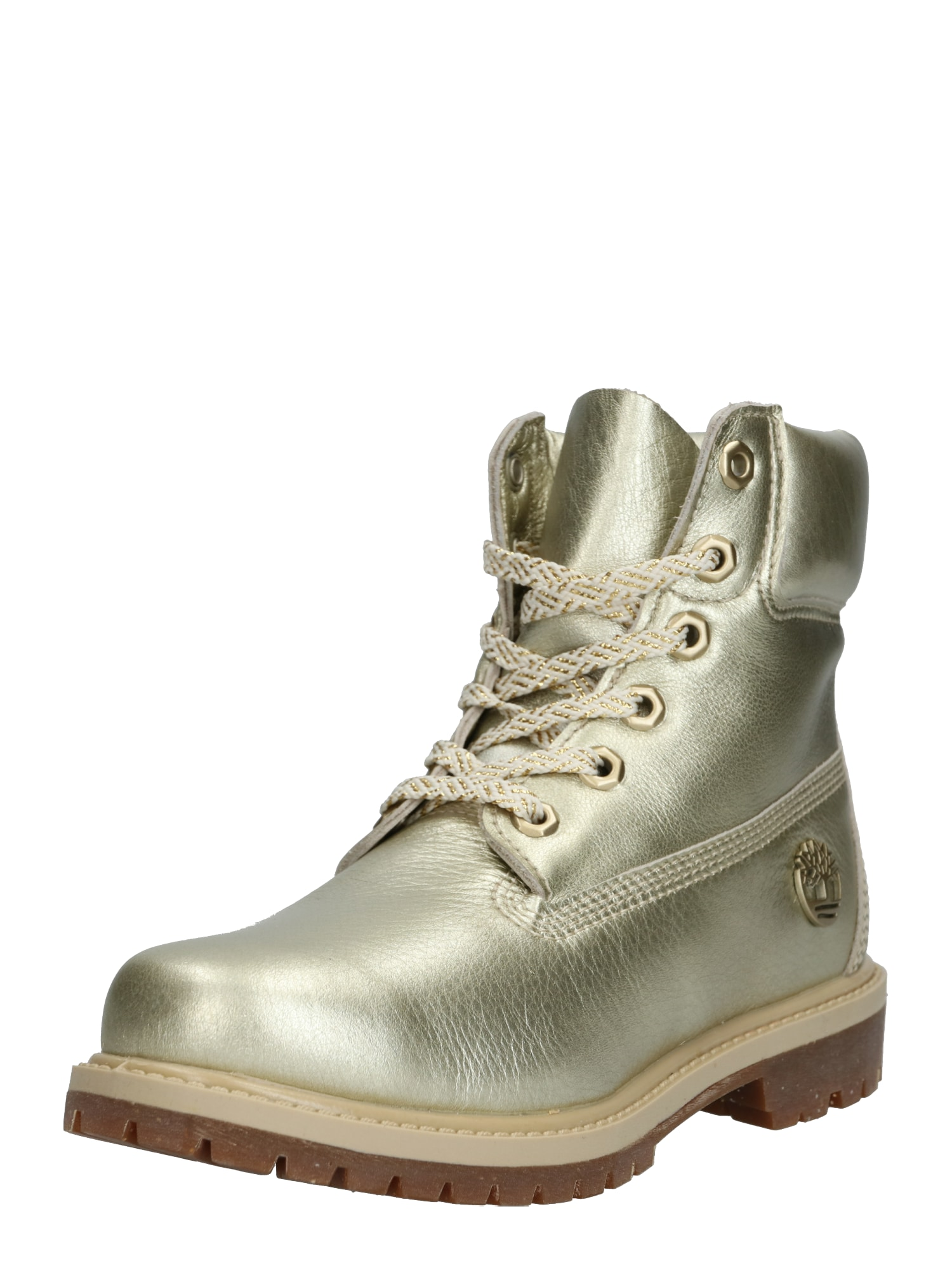 TIMBERLAND Šnurovacie čižmy '6in Premium Boot w/Bootie'  zlatá