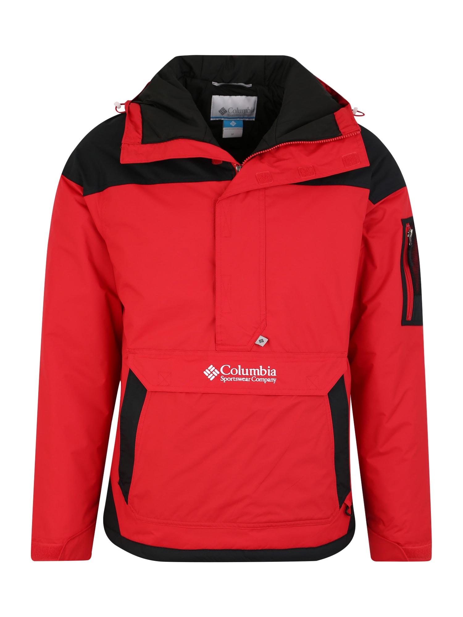 COLUMBIA Laisvalaikio striukė 'Challenger' raudona / juoda