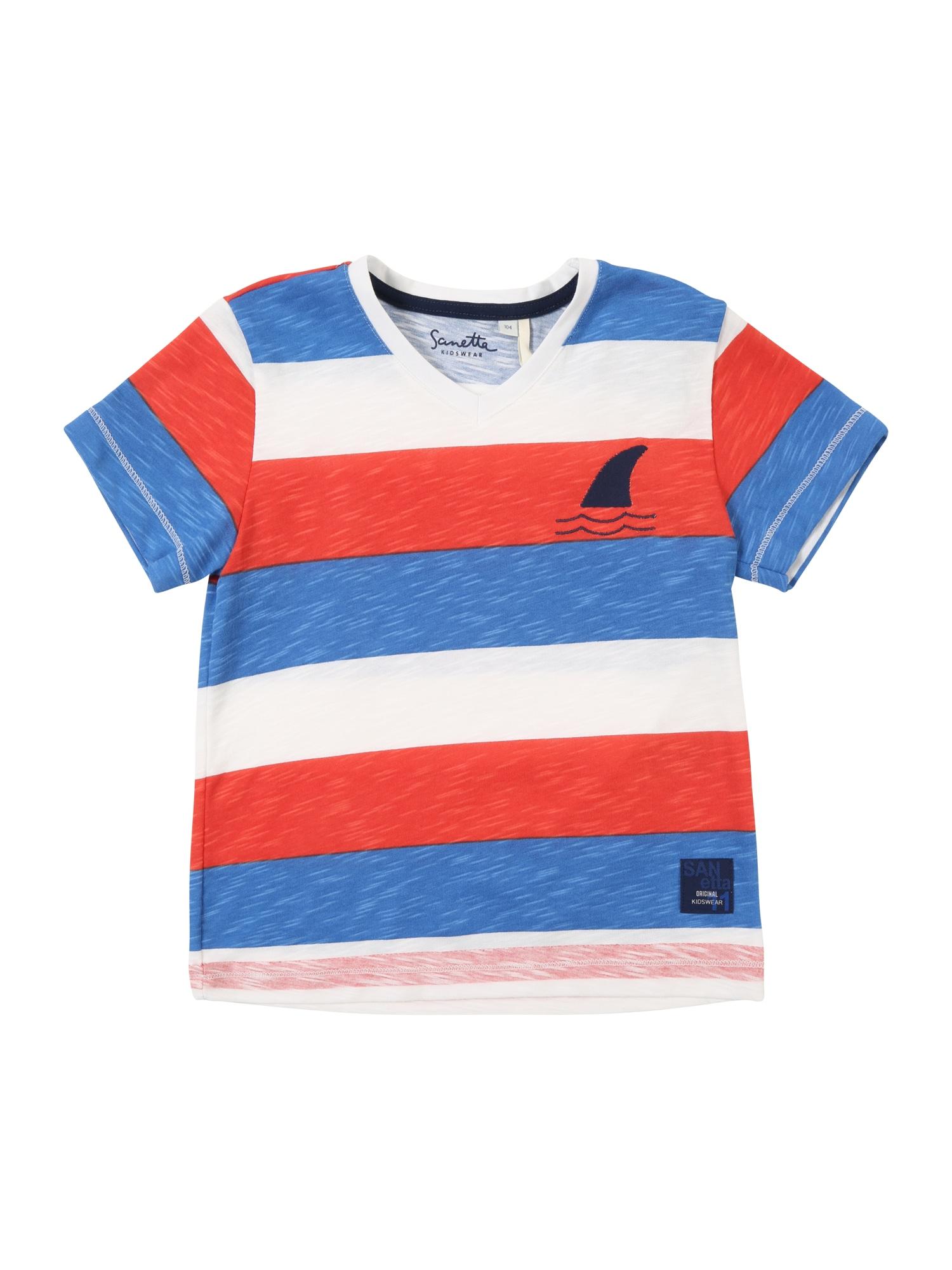 Tričko modrá světle červená bílá Sanetta Kidswear