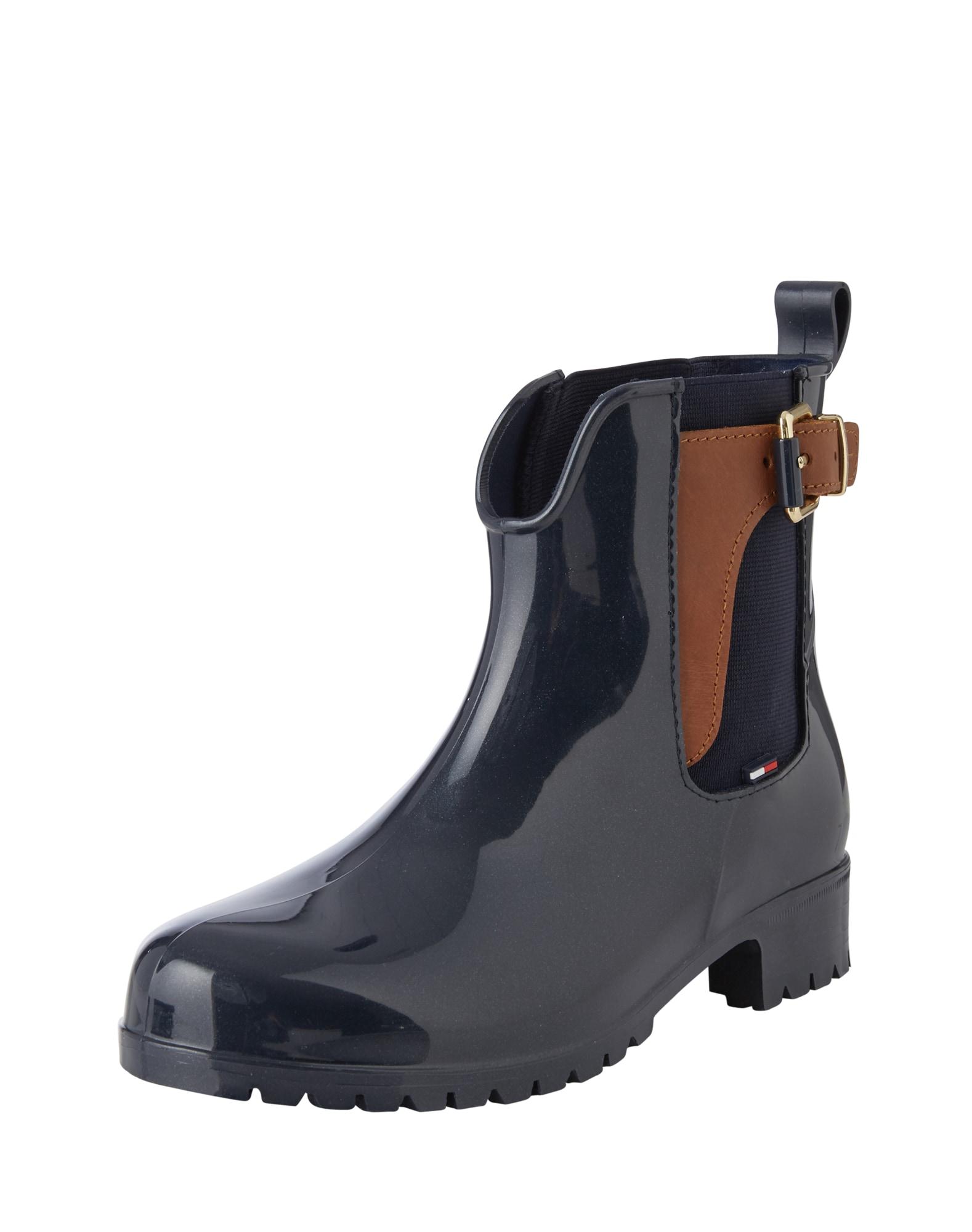 TOMMY HILFIGER Guminiai batai tamsiai mėlyna jūros spalva / ruda