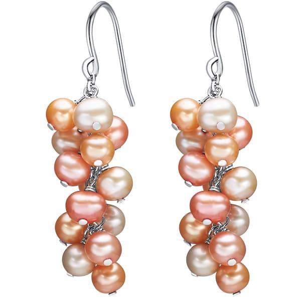 Ohrringe für Frauen - Valero Pearls Ohrhänger orange silber weiß  - Onlineshop ABOUT YOU