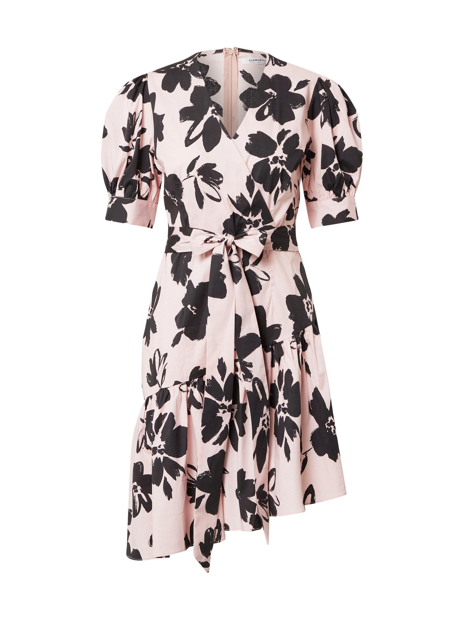 GLAMOROUS Vasarinė suknelė juoda / rožinė