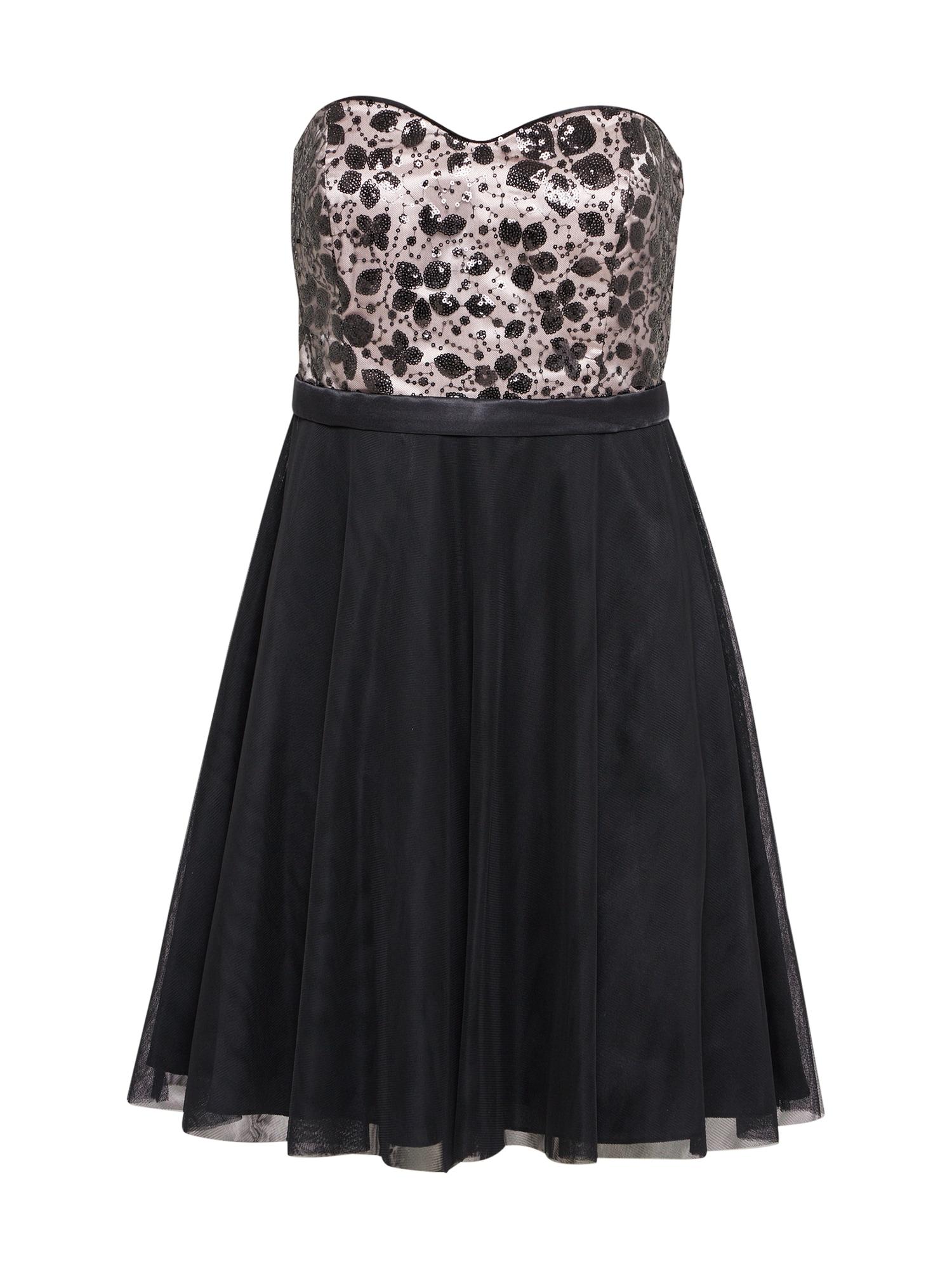 Koktejlové šaty růžová černá VM Vera Mont
