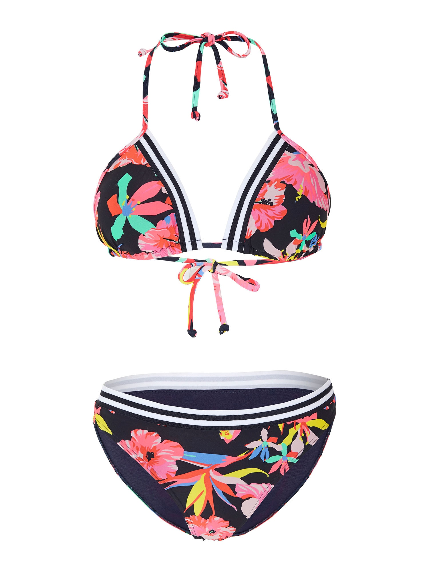 CHIEMSEE Sportinis bikinis rožinė / tamsiai mėlyna