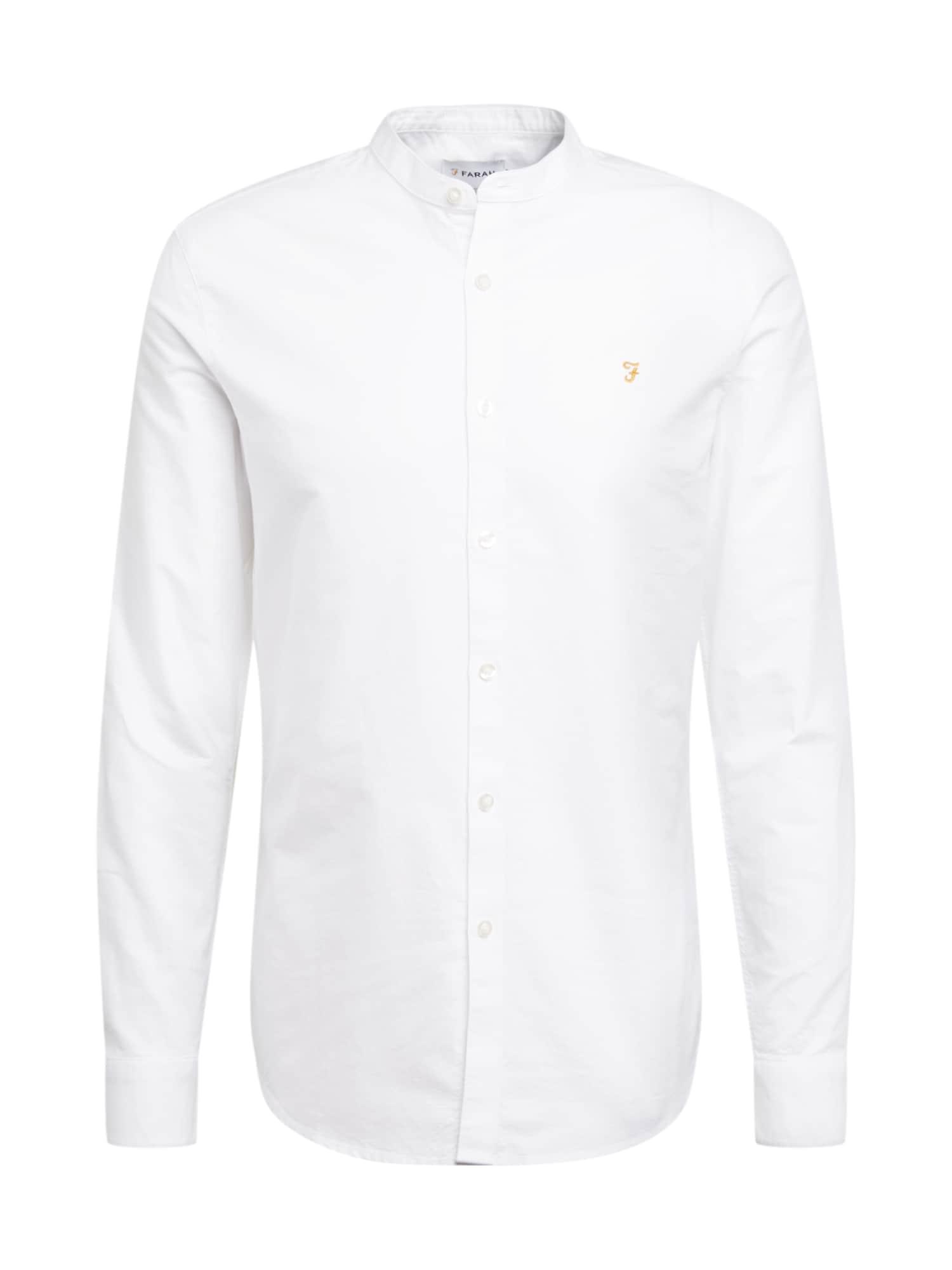 FARAH Dalykiniai marškiniai 'BREWER' balta