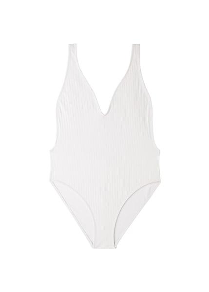 Bademode für Frauen - MANGO Badeanzug 'Canale' weiß  - Onlineshop ABOUT YOU