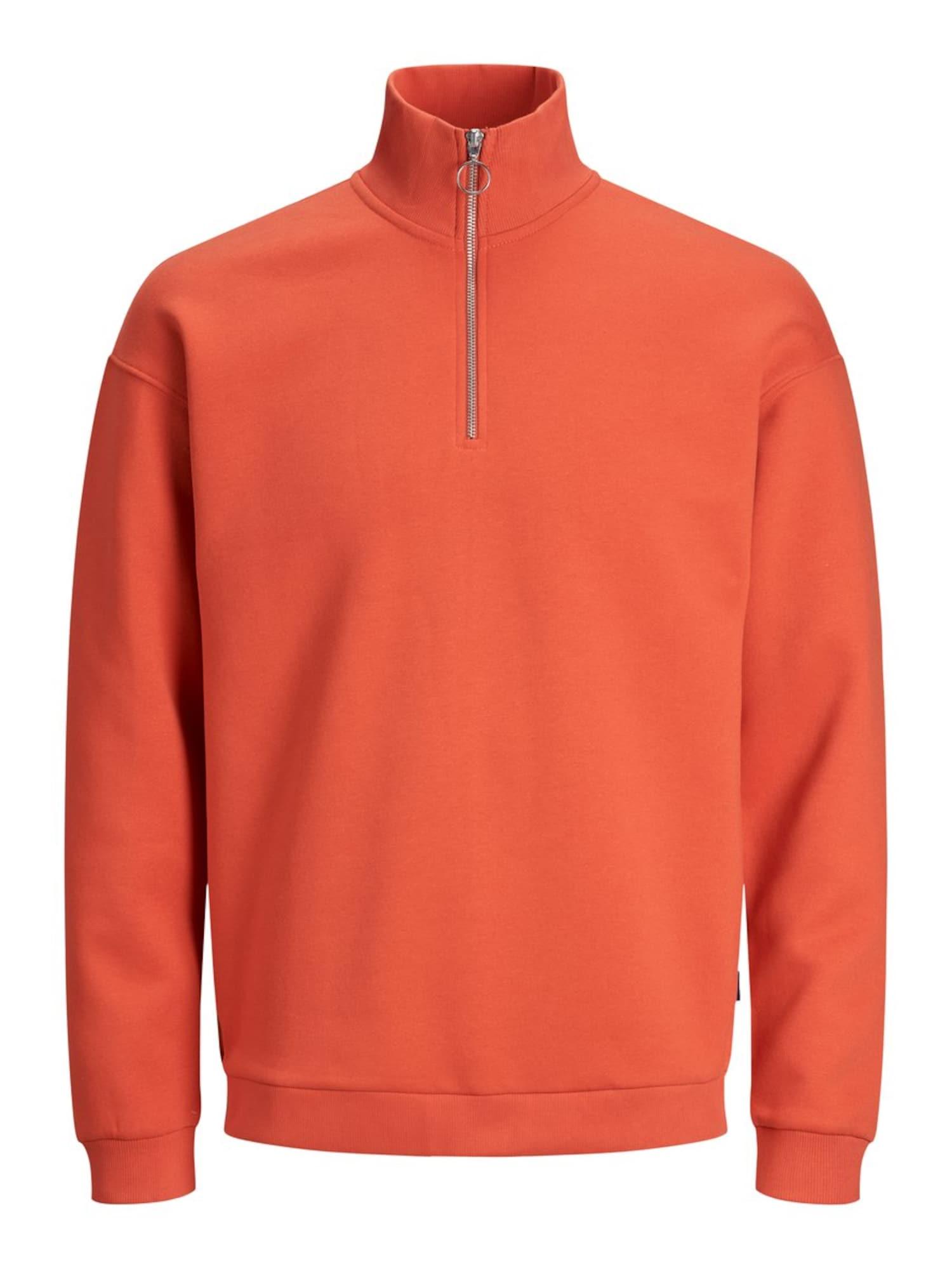 JACK & JONES Mikina  oranžovo červená