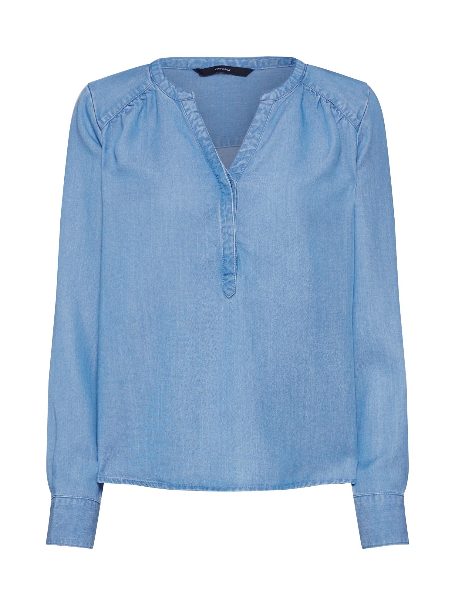 VERO MODA Palaidinė tamsiai (džinso) mėlyna