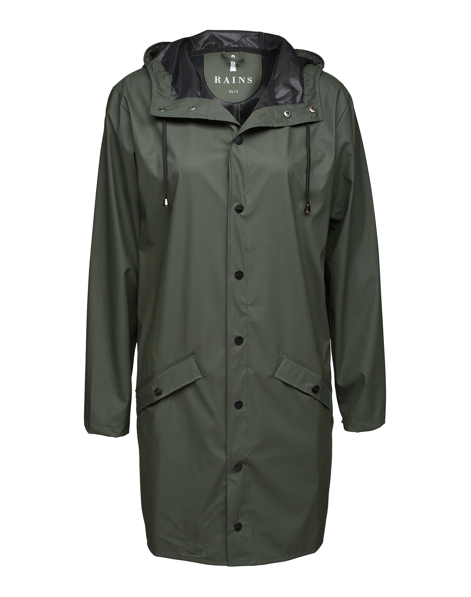 RAINS Demisezoninis paltas alyvuogių spalva