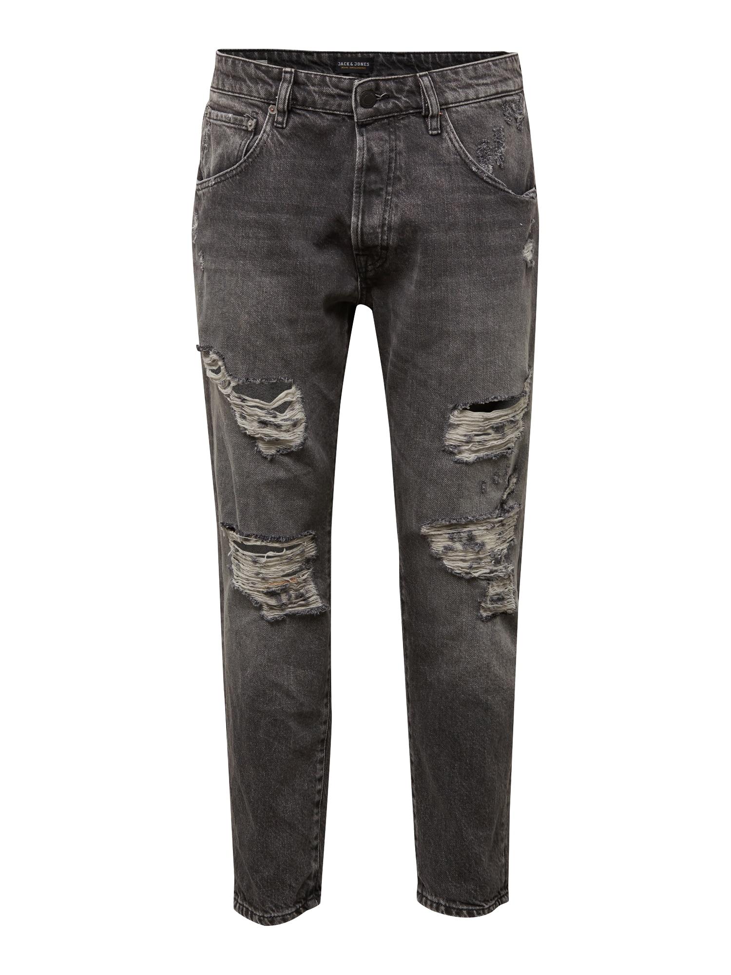 JACK & JONES Džinsai 'FRANK LEEN JOS 079' juodo džinso spalva