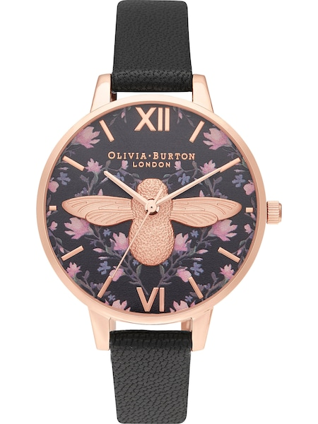 Uhren für Frauen - Uhr 'Bee' › Olivia Burton › rosegold schwarz  - Onlineshop ABOUT YOU