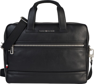 TOMMY HILFIGER Laptoptasche 'City' im Leder-Look