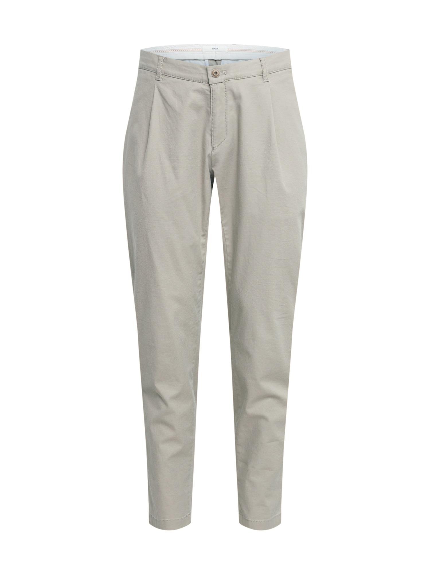 BRAX Klostuotos kelnės 'Paul' pilka