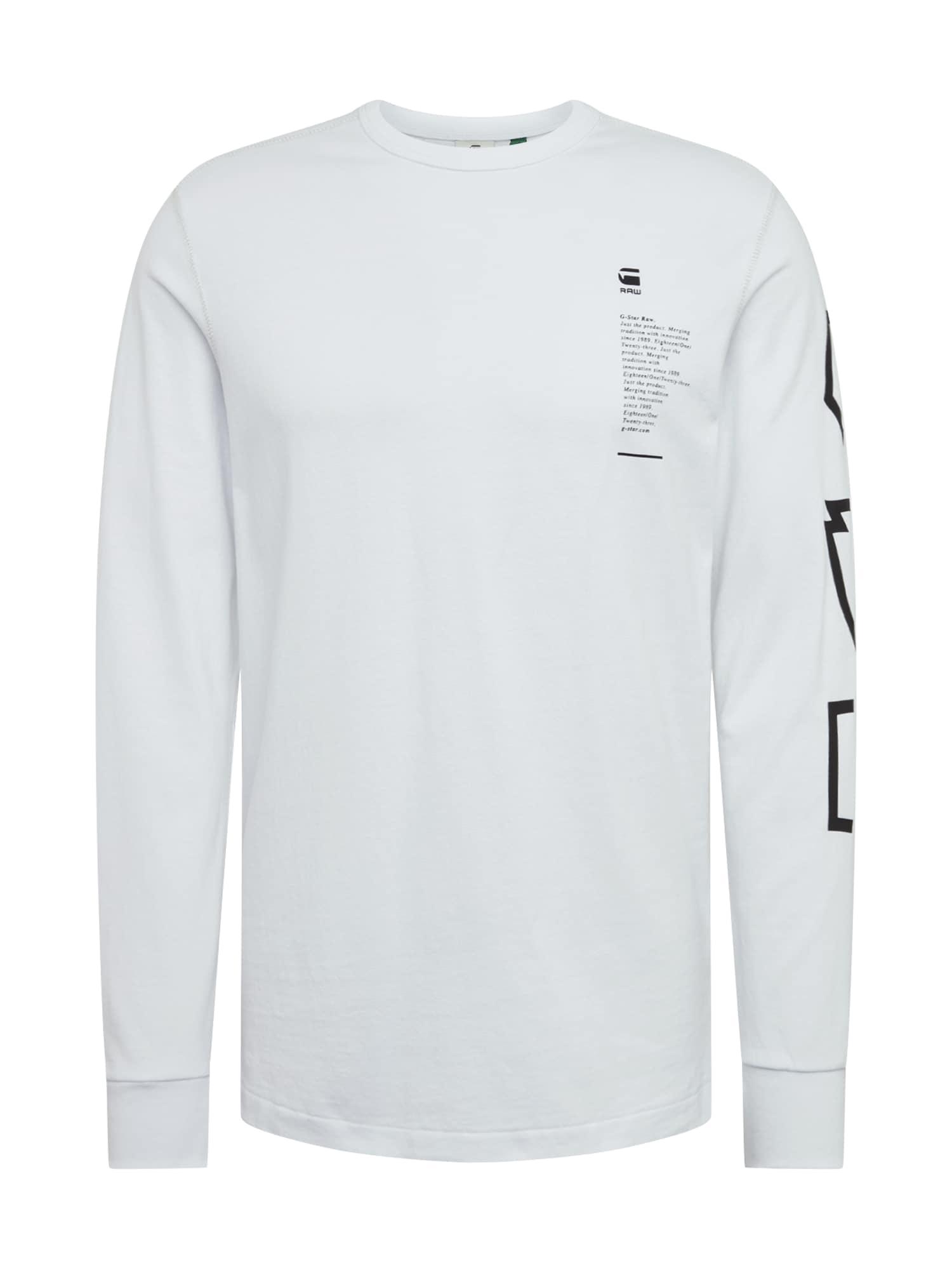 G-Star RAW Marškinėliai 'Multi Arm GR Shield R T L\S' balta