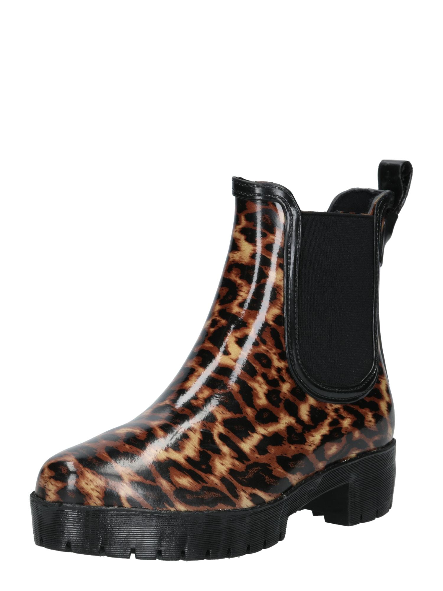 Jeffrey Campbell Guminiai batai 'CLOUDY-V' ruda / juoda