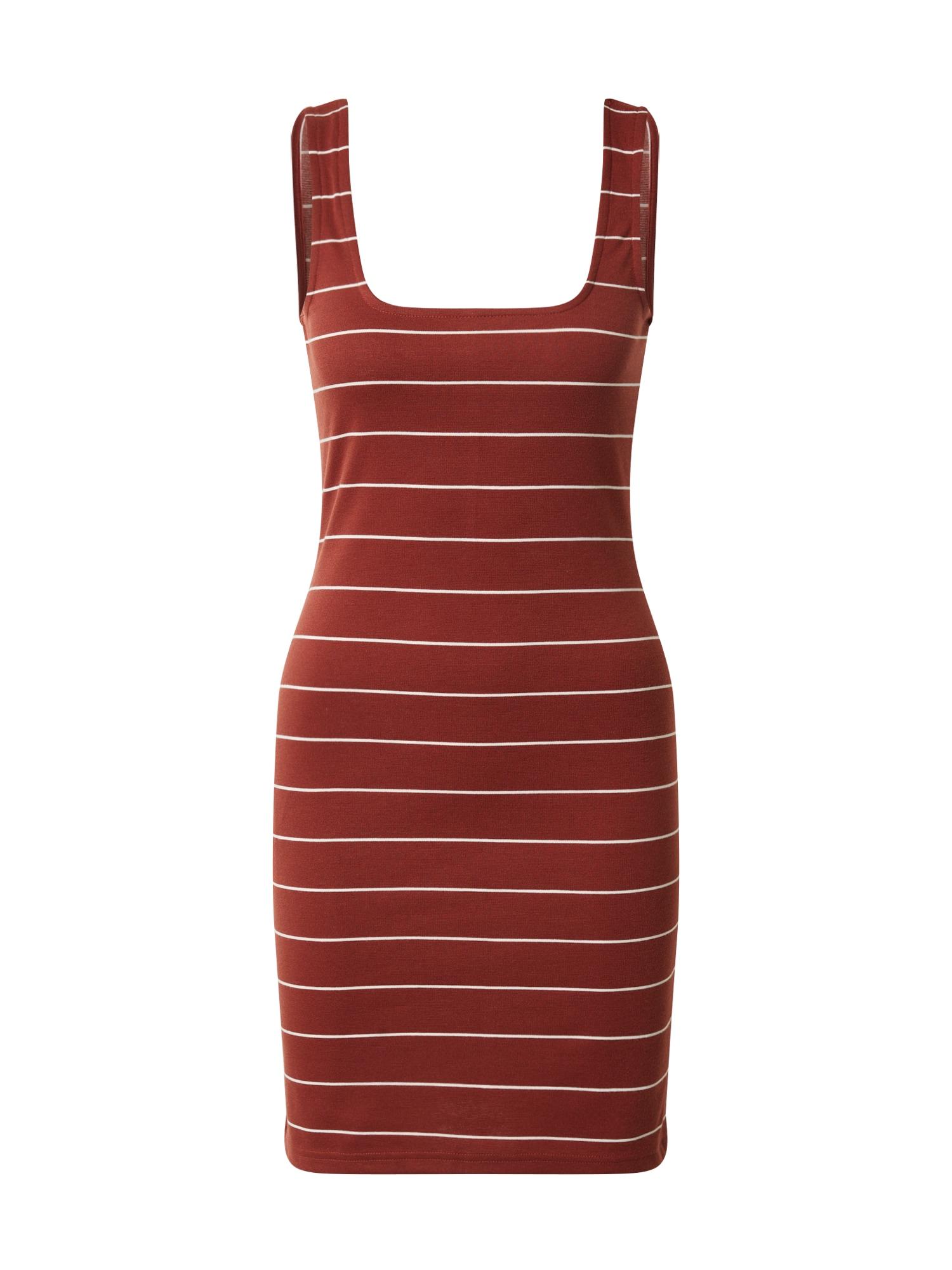 ONLY Šaty 'ONLLOUI'  biela / hrdzavo červená