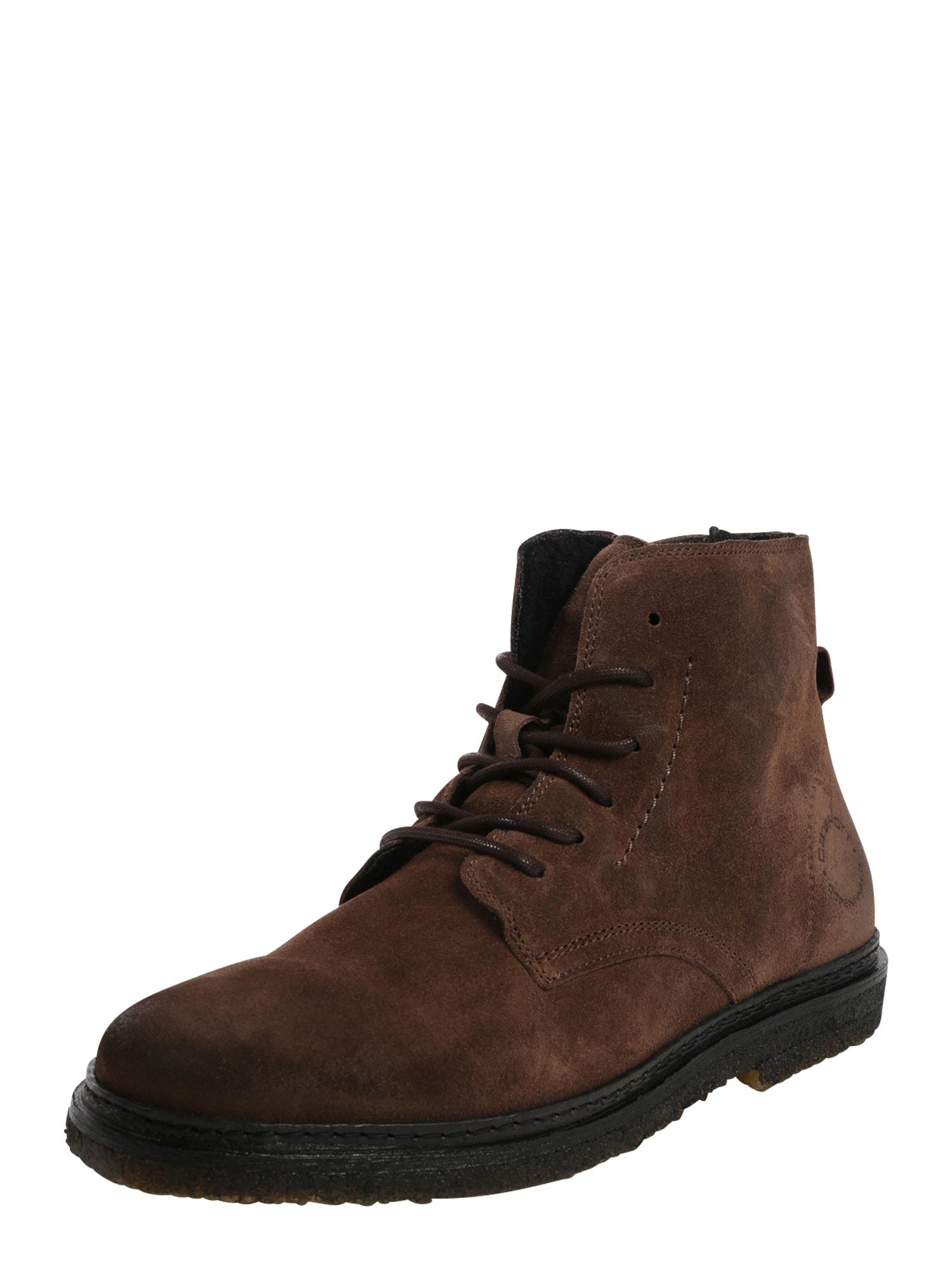 Ca Shott Auliniai batai su raišteliais tamsiai ruda