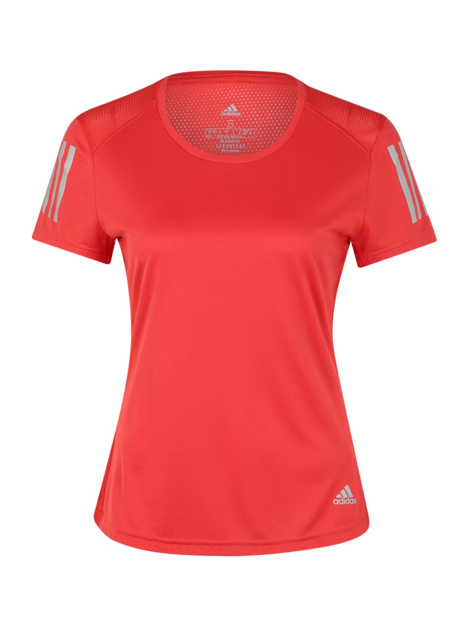 ADIDAS PERFORMANCE Funkčné tričko 'OWN THE RUN TEE'  červené