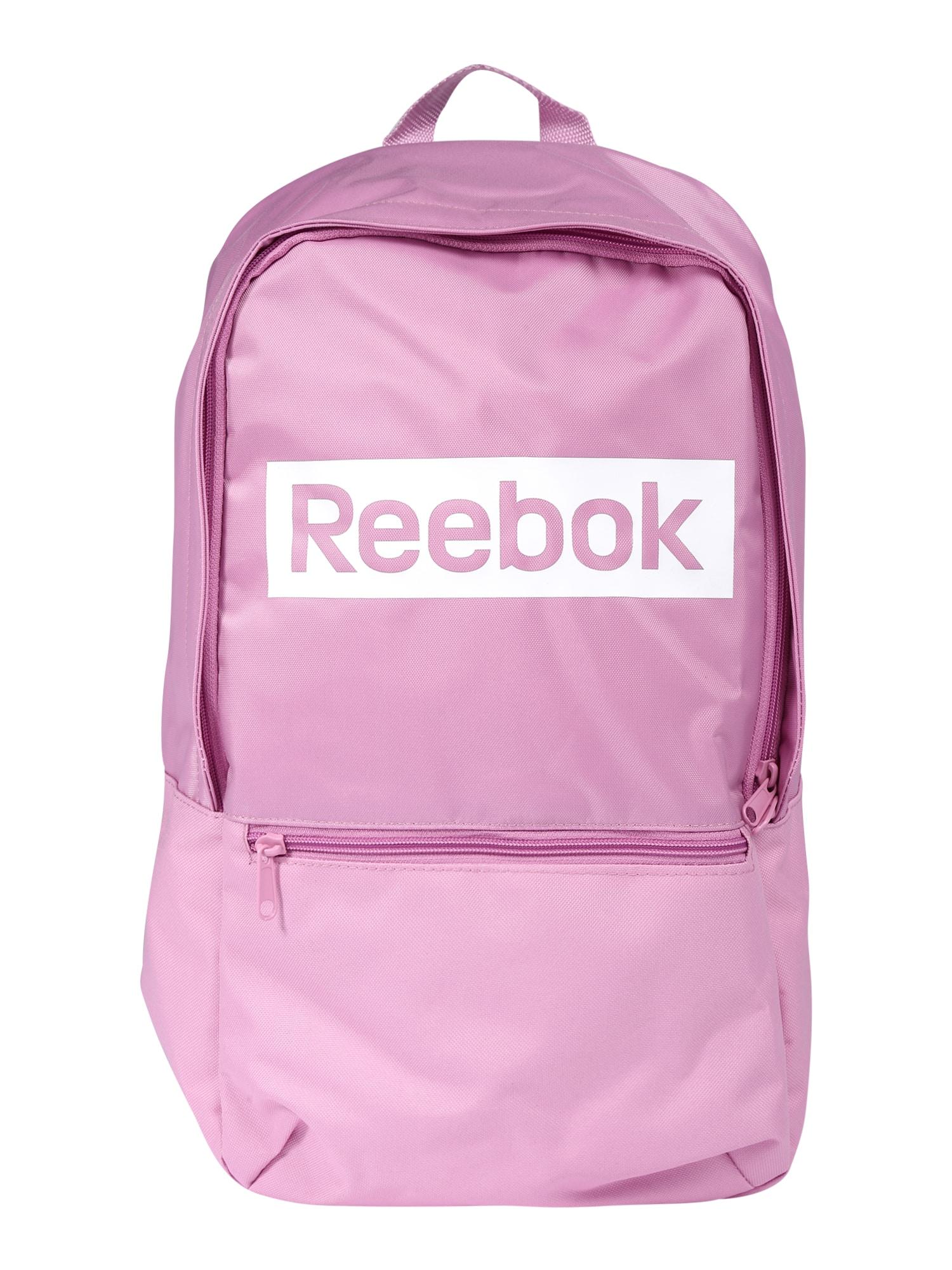 REEBOK Športový batoh  ružová / biela