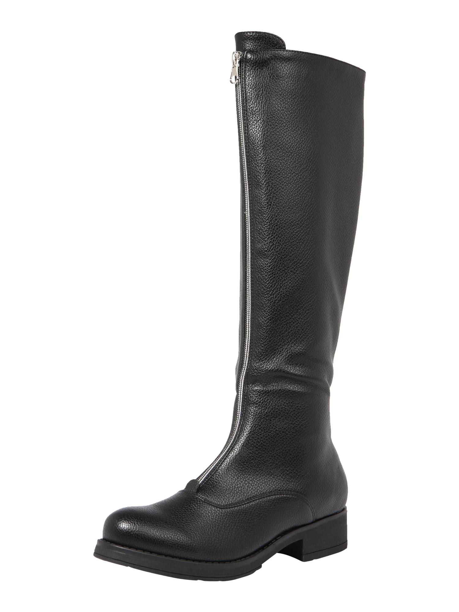 ABOUT YOU Auliniai batai su kulniuku 'Linea' juoda