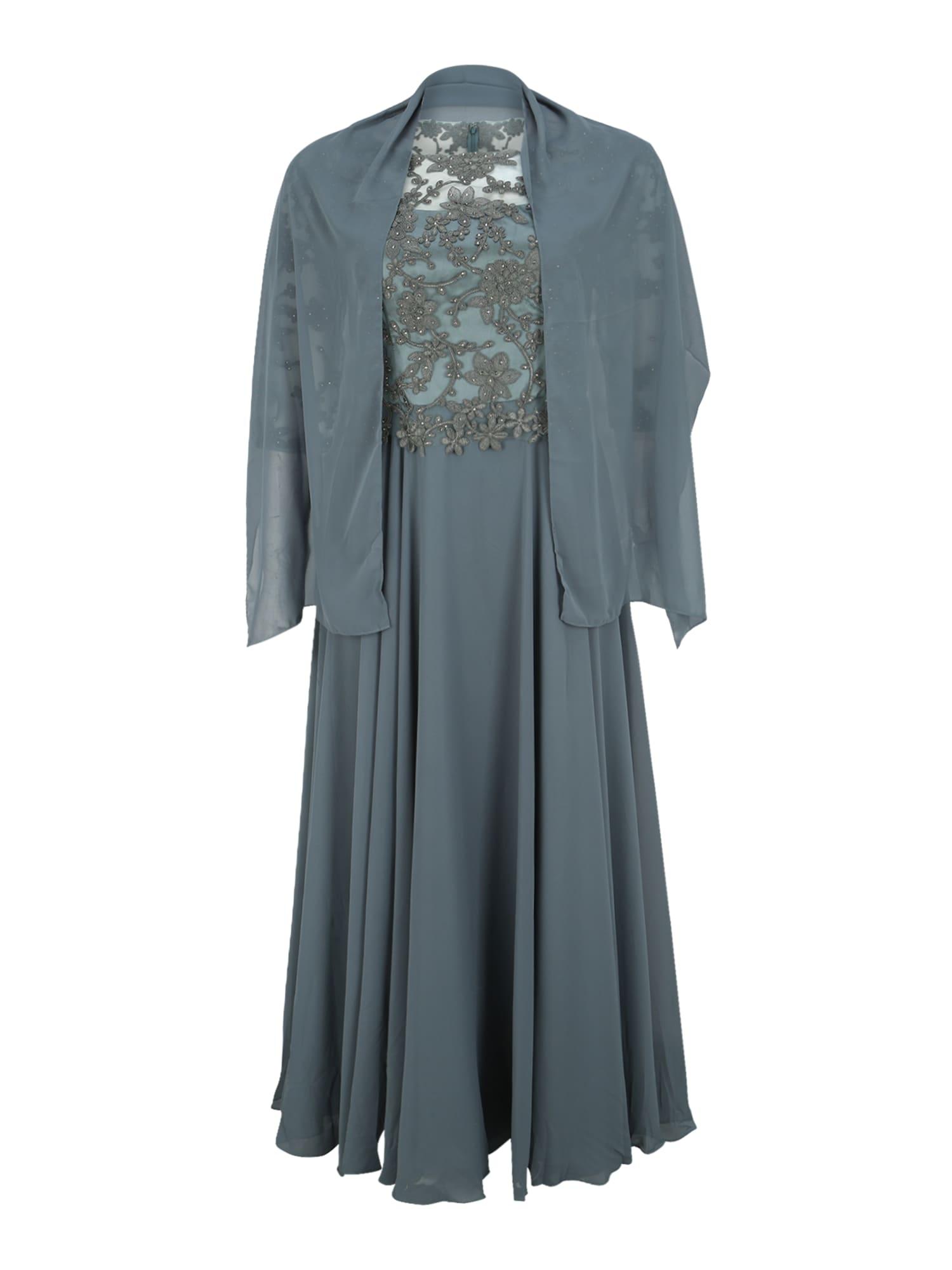 My Mascara Curves Vakarinė suknelė 'EMB SLEEVE' žalia